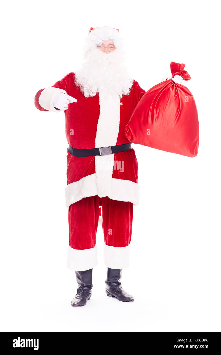 Santa Claus with sack - Stock Image