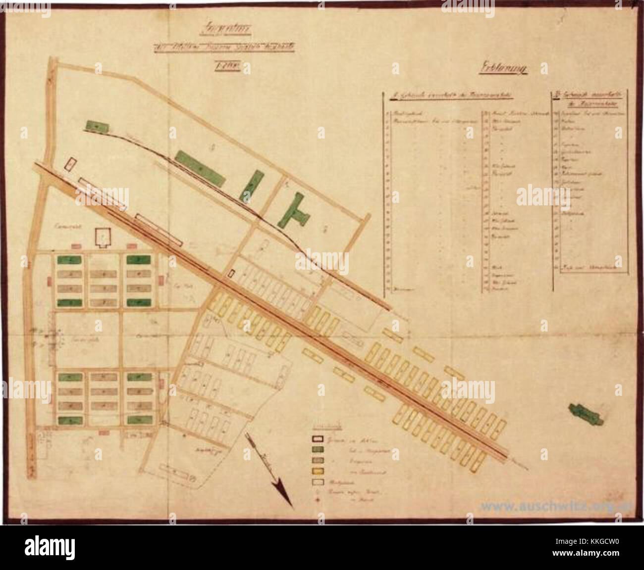 Map Auschwitz 1 1940 Stock Photo 166933116 Alamy