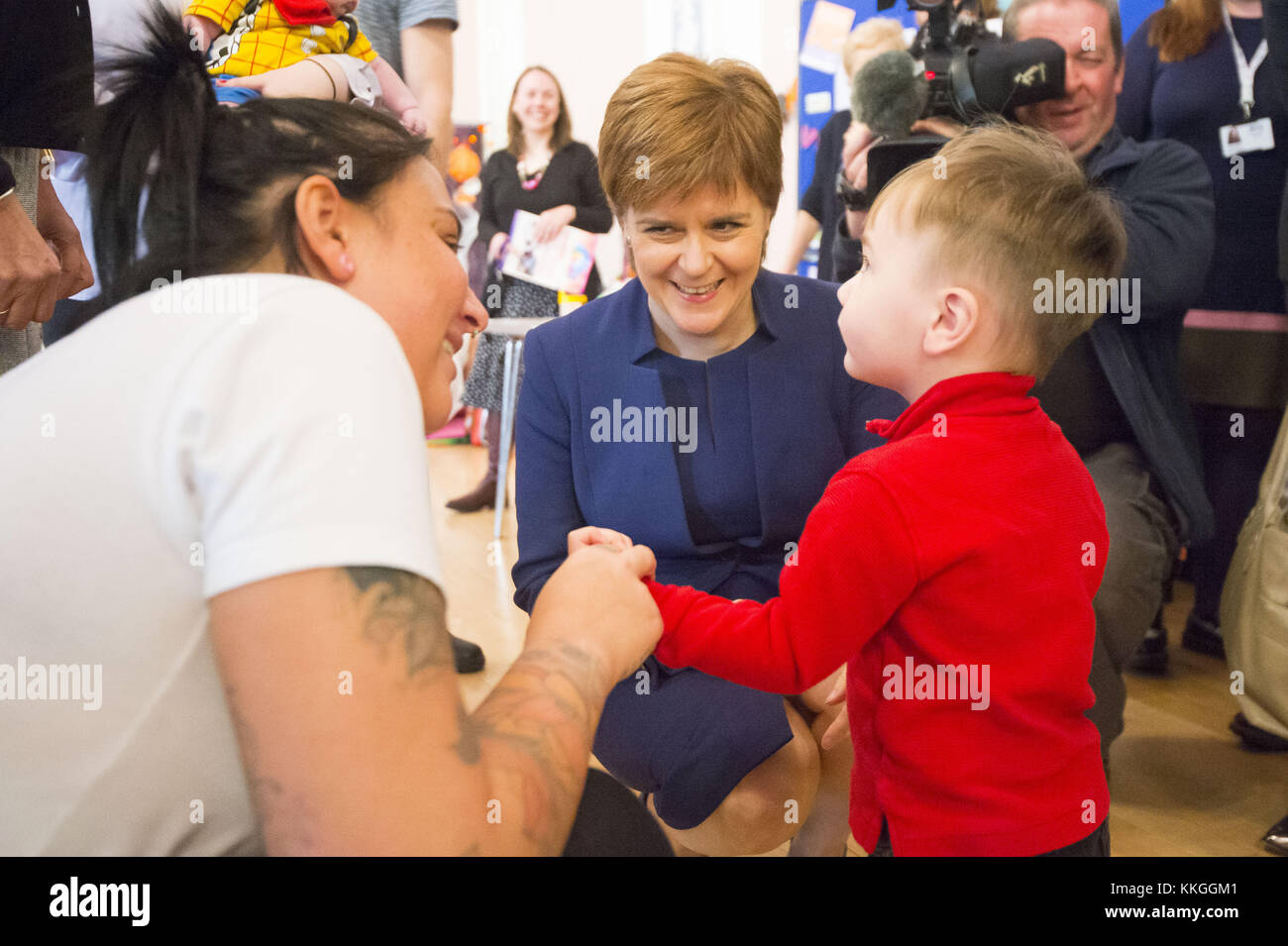 First Minister Nicola Sturgeon attends a celebration event to celebrate NHS Tayside having supported more than 1,000 - Stock Image