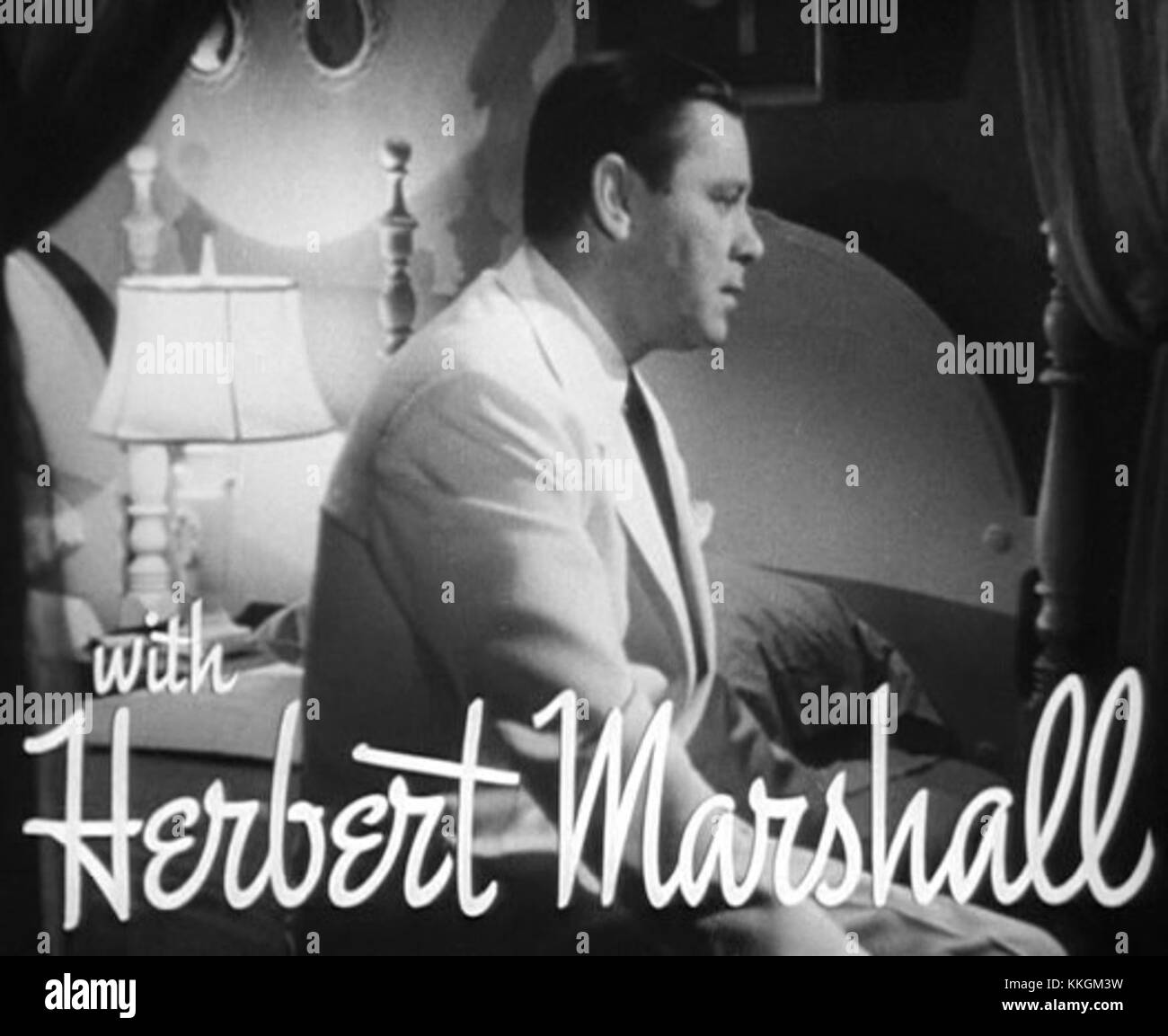 Herbert Marshall in The Letter trailer Stock Photo: 166938797   Alamy