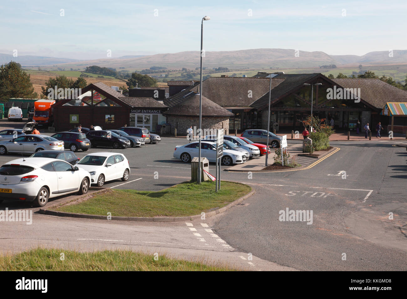 Tebay East service station serving the southbound M6, operated by family owned Westmorland Motorway Services - Stock Image