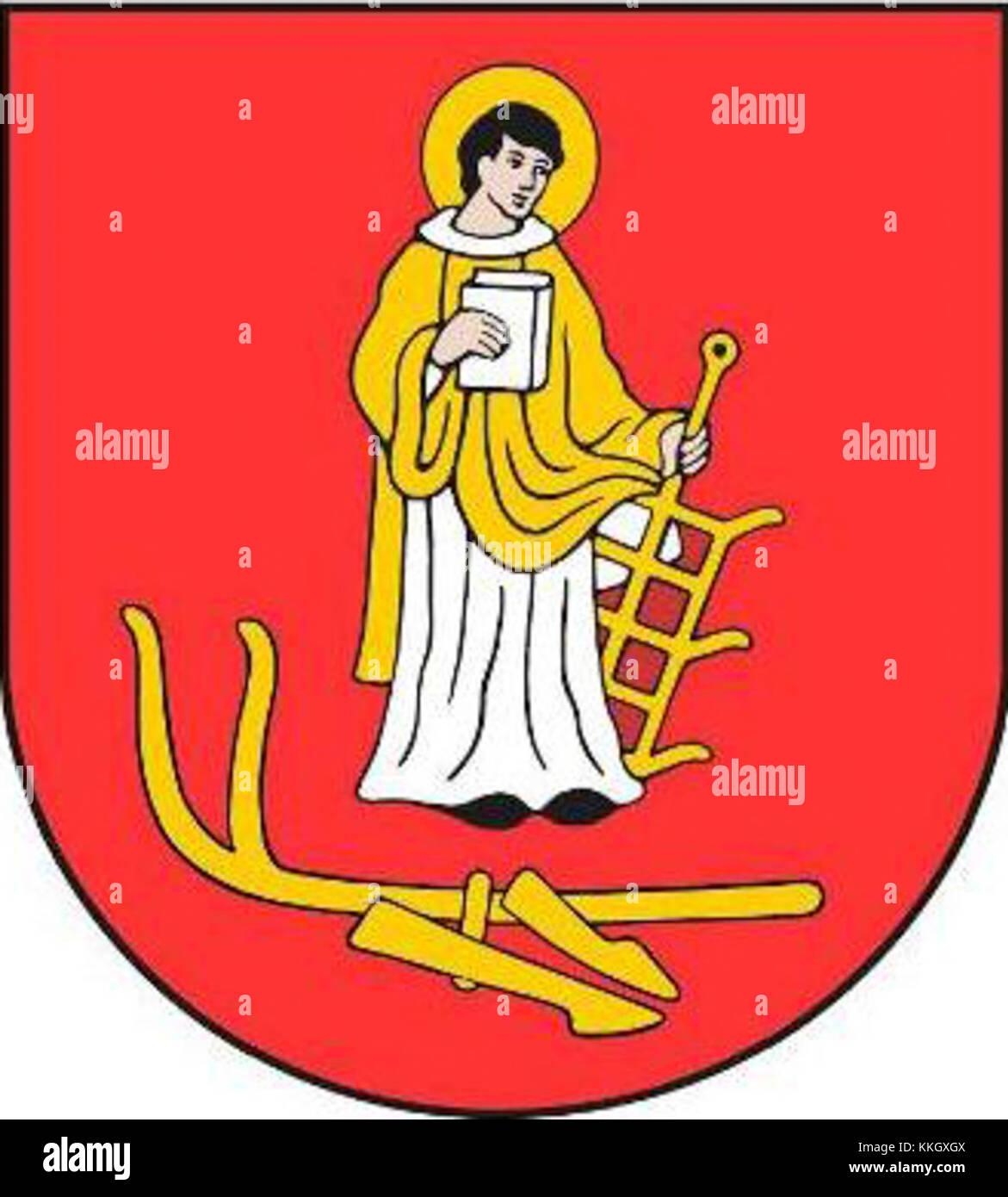 POL gmina Sochaczew COA - Stock Image