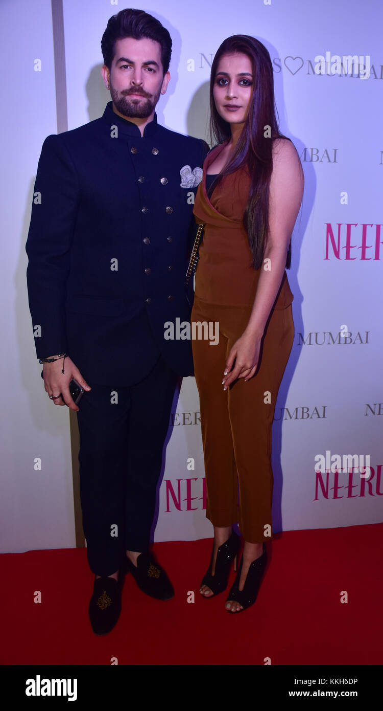 Mumbai, India. 30th Nov, 2017. Indian film actor Neil Nitin Mukesh attend the Popular ethnic brand Neeru's an - Stock Image