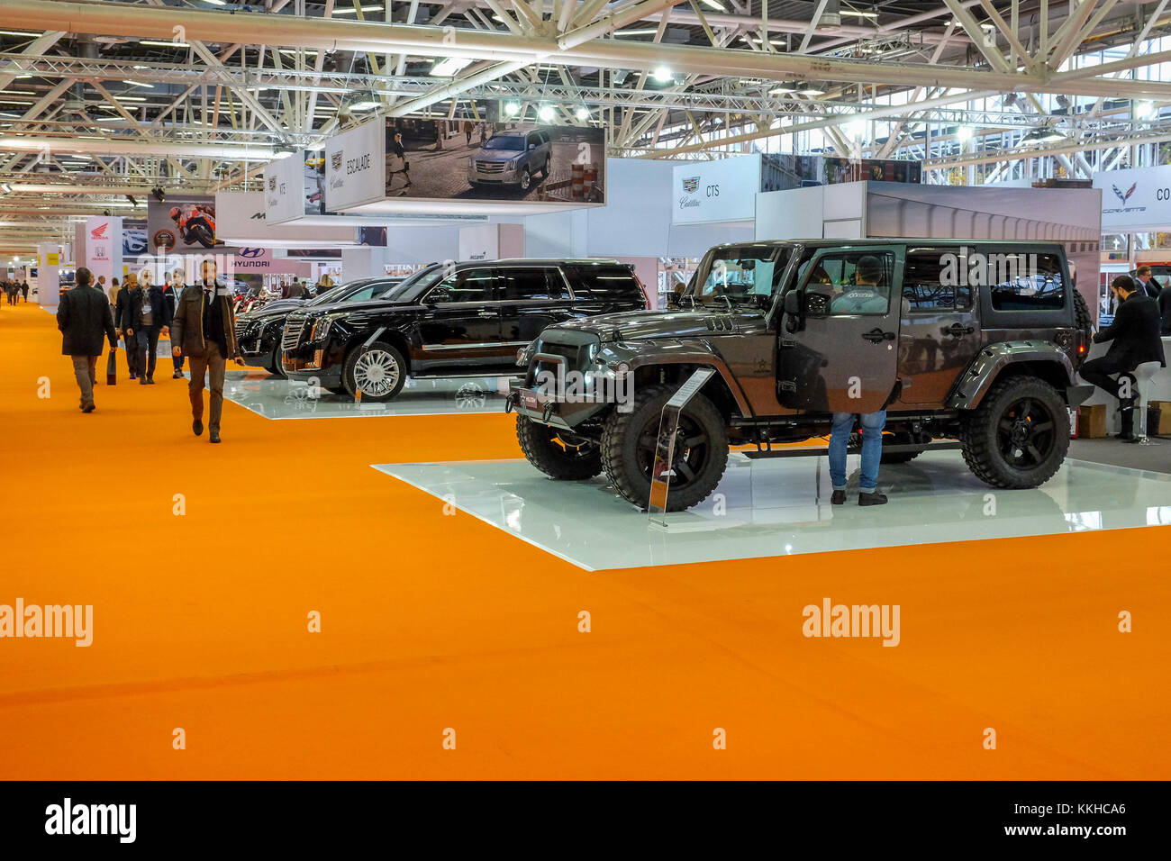 Bologna - Italy - DECEMBER 1: Today is seeing on the opening day of the Bologna Motorshow, The Bologna motor show - Stock Image