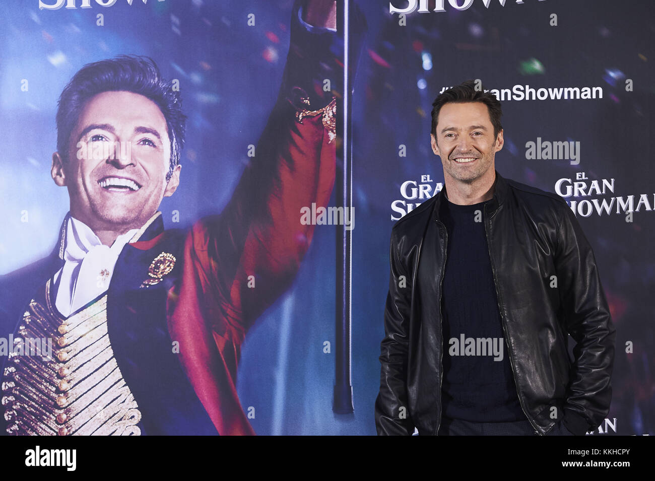 Madrid, Madrid, Spain. 1st Dec, 2017. Hugh Jackman attends 'The Greatest Showman' photocall at Villamagna - Stock Image