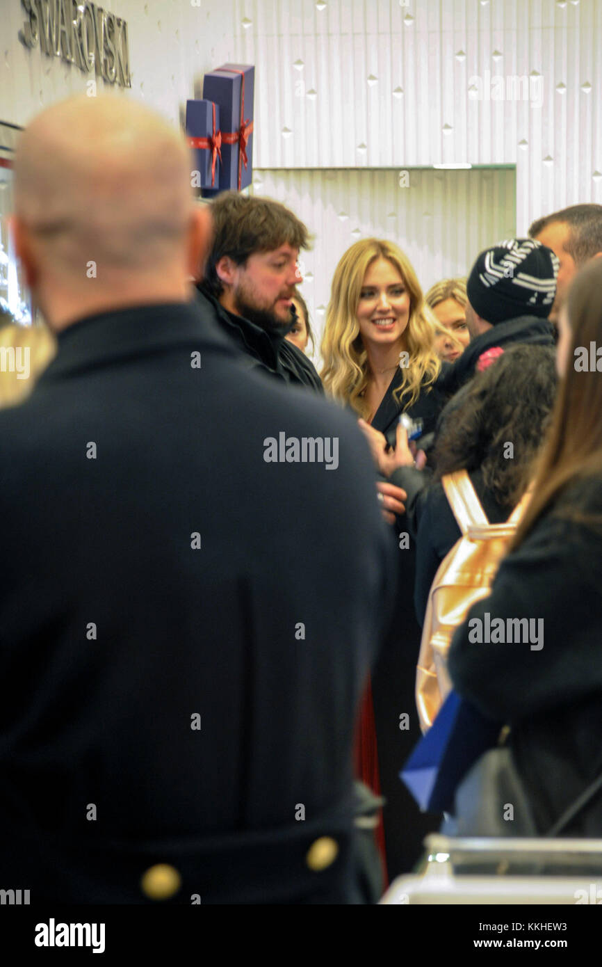 Lighting of the Swarovski Christmas tree in Galleria Vittorio Emanuele In the picture Chiara Ferragni inside the Swarovski boutique in the Gallery Credit ...  sc 1 st  Alamy & Milan Italy. 1st December 2017. Lighting of the Swarovski ...