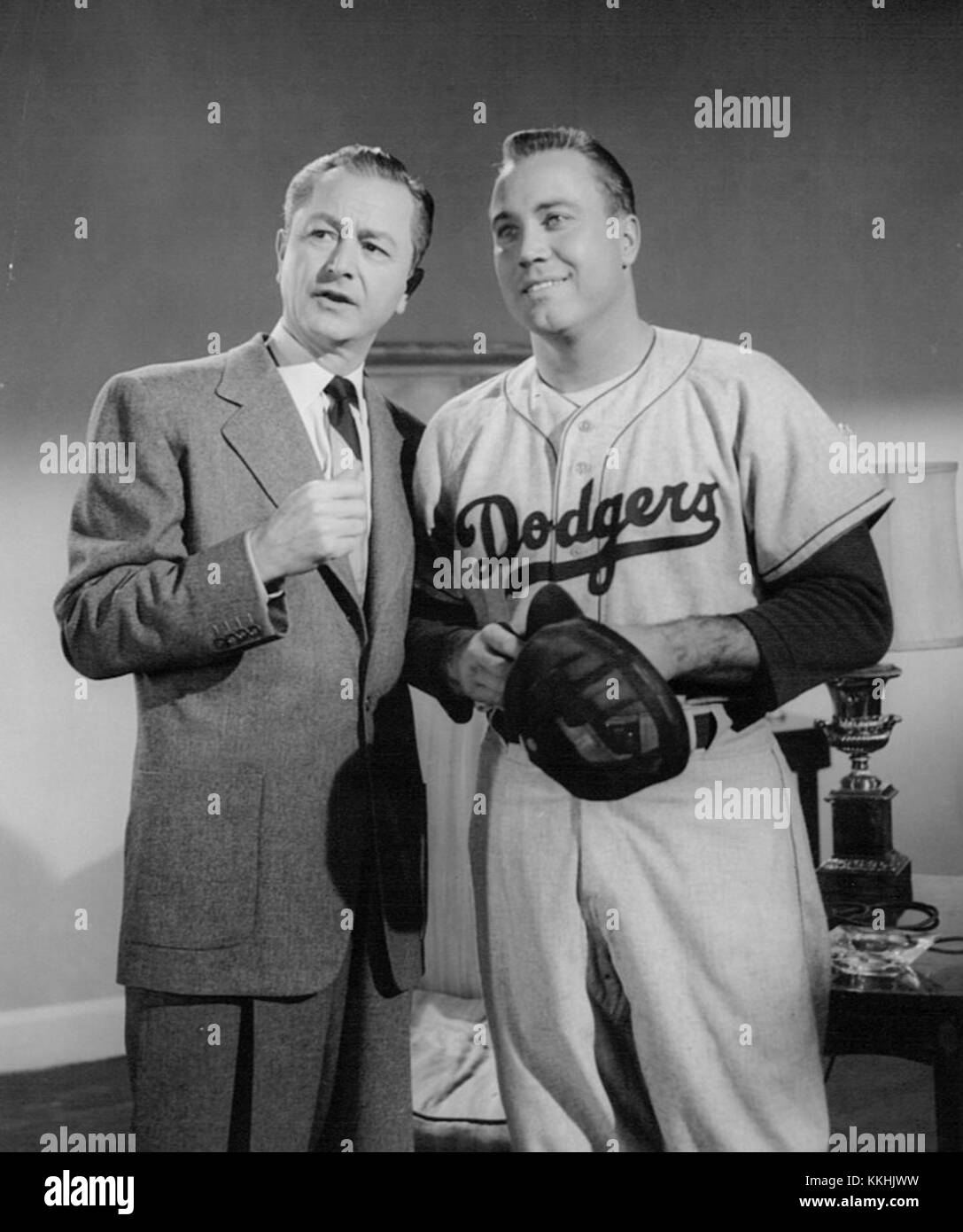 c4b3be39f272 Robert Young Duke Snider Father Knows Best 1956 Stock Photo ...