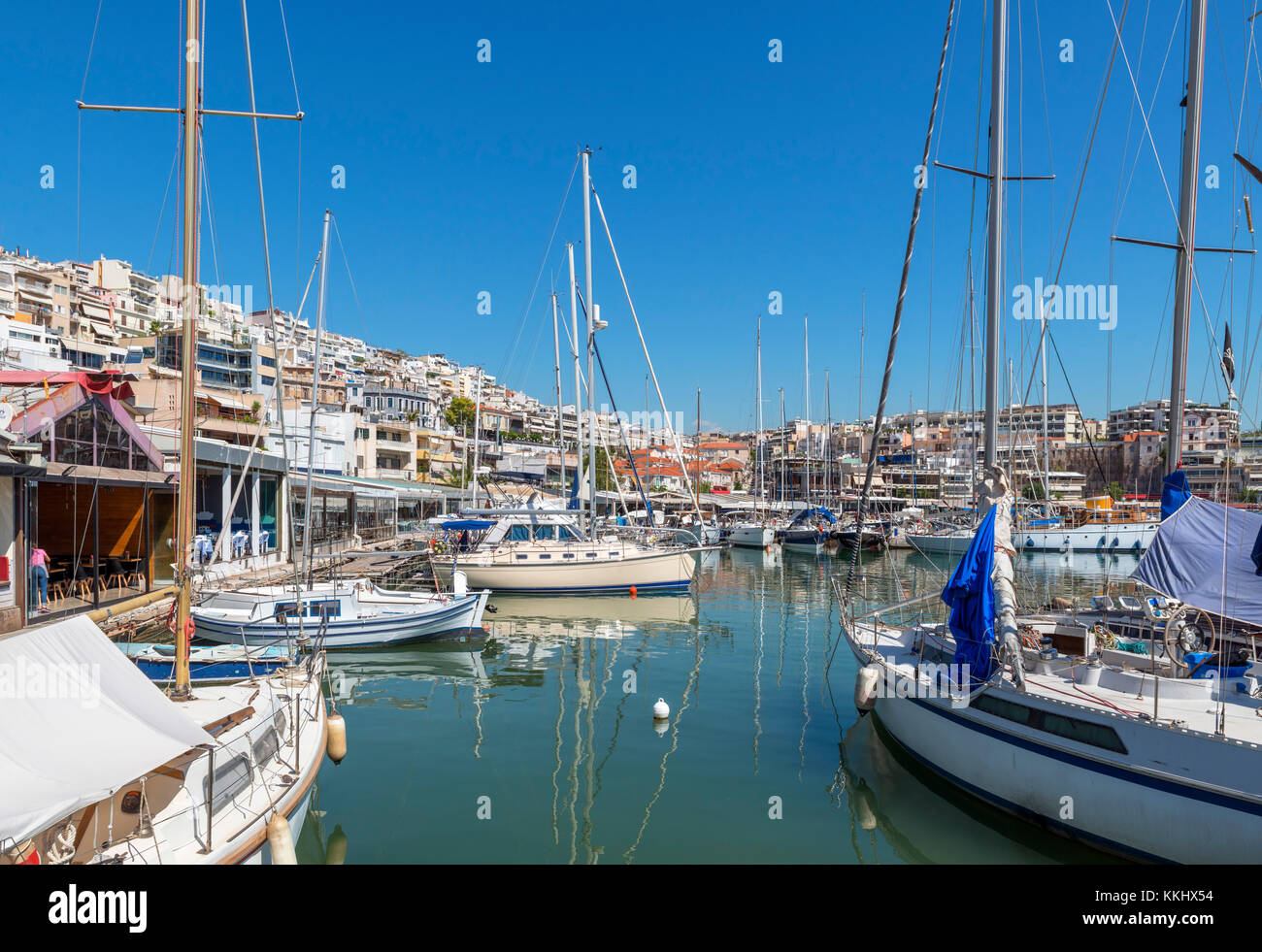 Boats in the Mikrolimano, Piraeus (Pireas), Athens, Greece - Stock Image