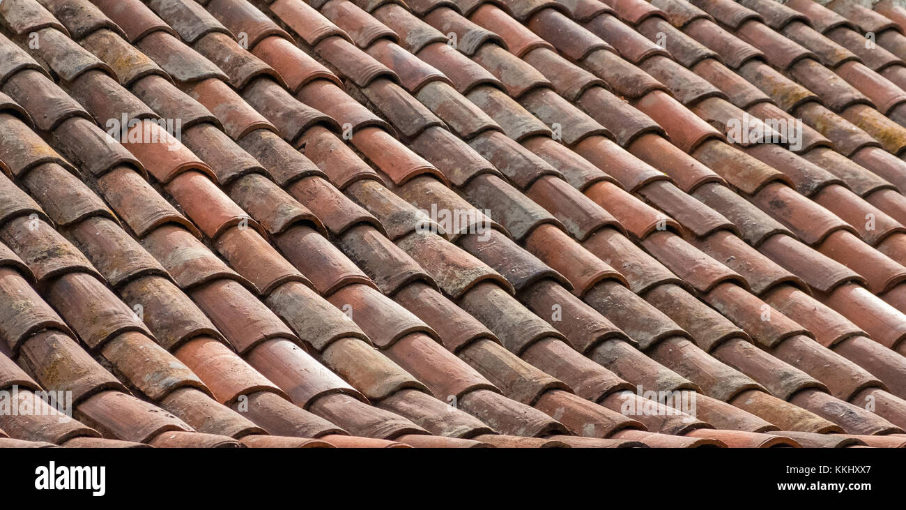 Texture Striped Ceramic Tile Roof Stock Photos Texture Striped