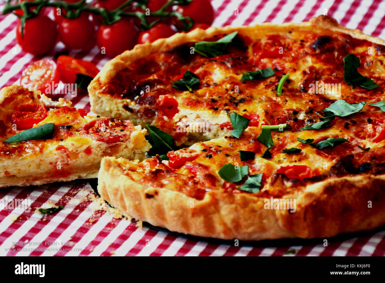 Slice of Quiche anyone? - Stock Image