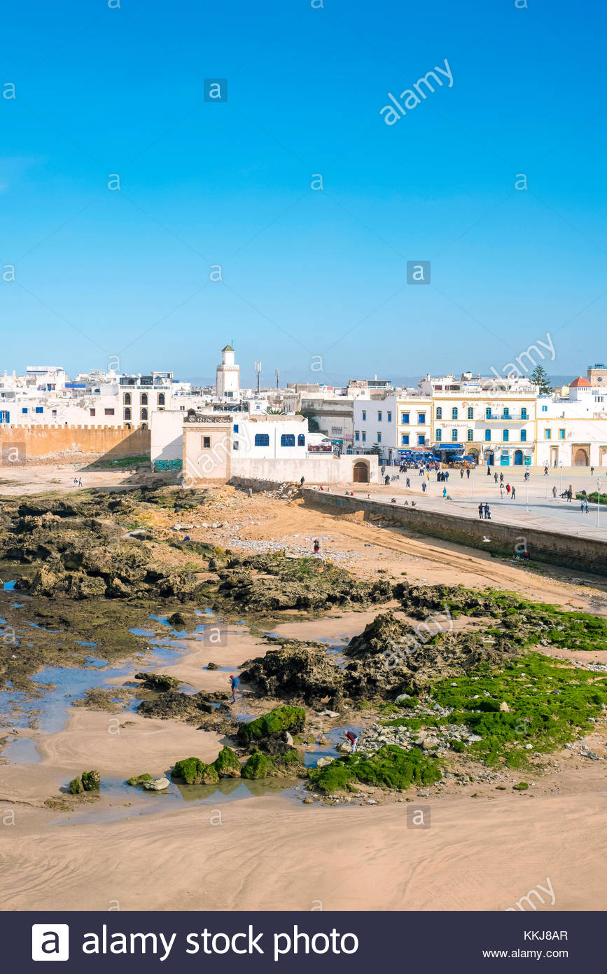 Morocco, Marrakesh-Safi (Marrakesh-Tensift-El Haouz) region, Essaouira. Medina old town, protected by 18th-century - Stock Image