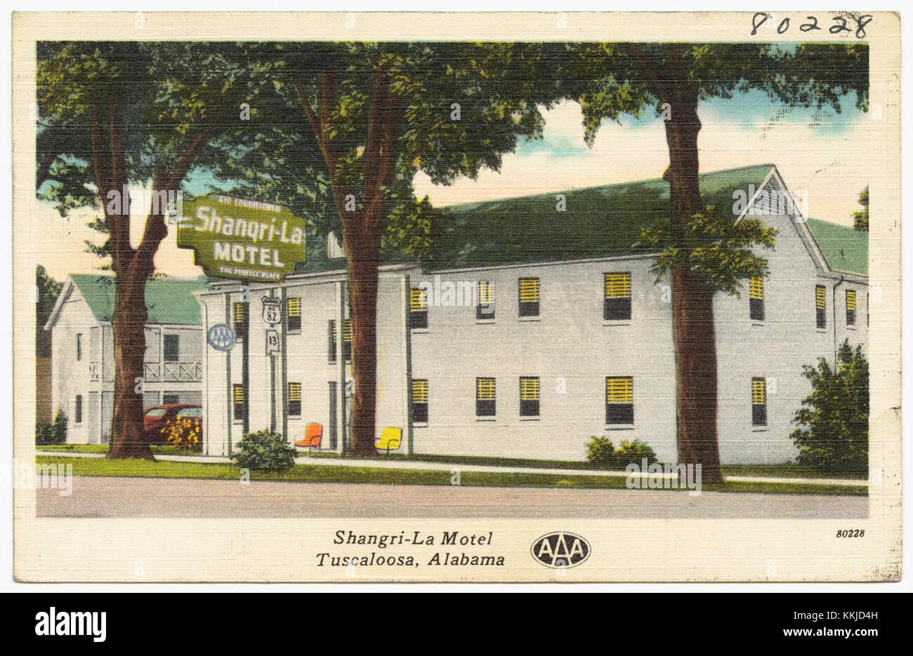 Shangri-La Motel, Tuscaloosa, Alabama (7187238609) - Stock Image