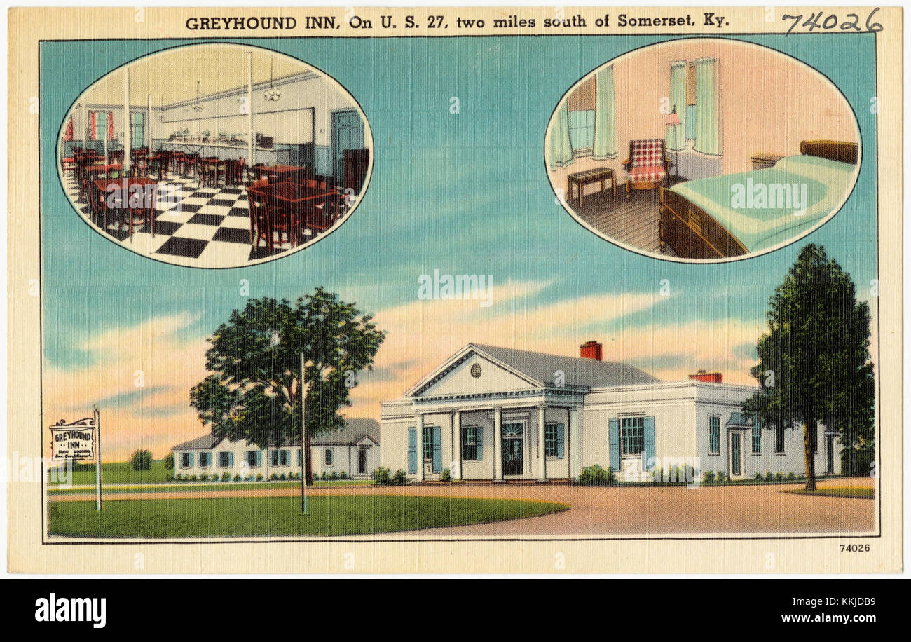 Greyhound Inn, on U. S. 27, two miles south of Somerset, Ky (74026) - Stock Image