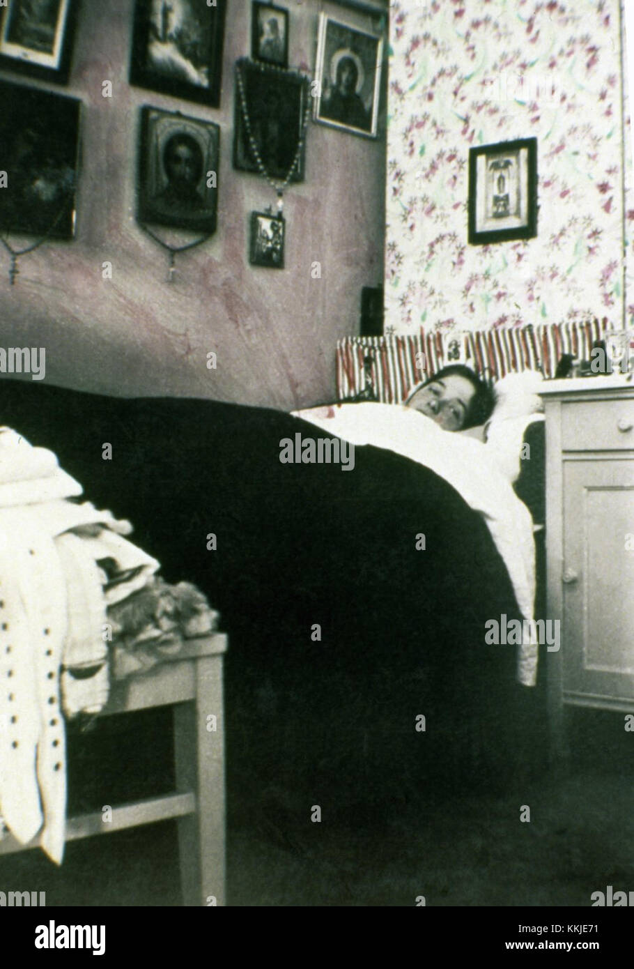 UNDATED:  Olga Romanov, daughter of Tsar Nicholas II, in her bedroom. The series of the unique pictures were taken - Stock Image