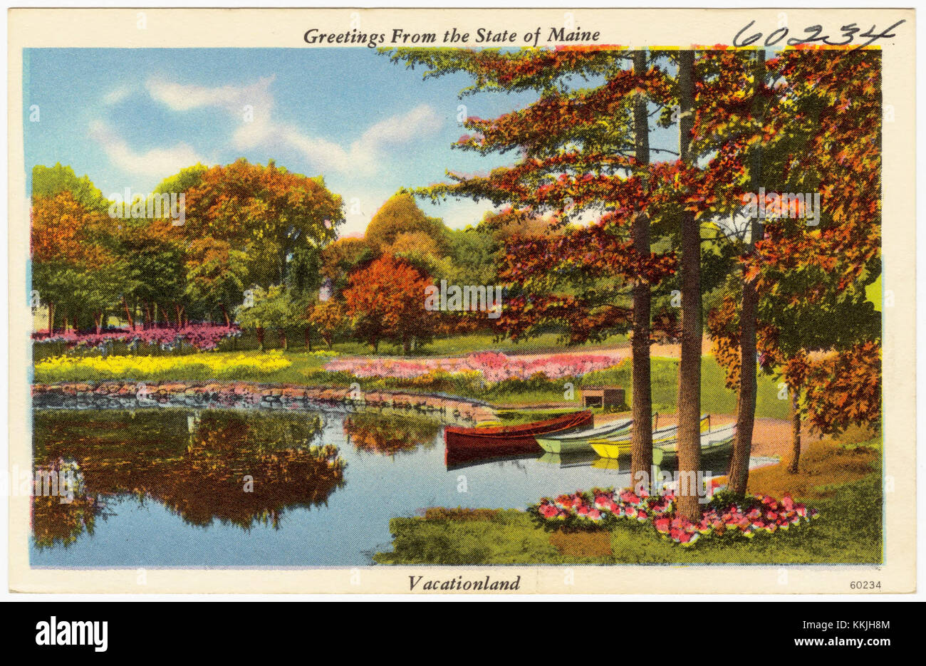 Greetings from the State of Maine, Vacationland (60234) - Stock Image