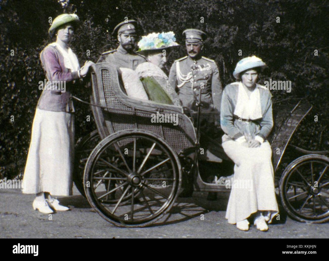 UNDATED:  The family of Tsar Nicholas II. The series of the unique pictures were taken by the Tsar Nicholas II himself - Stock Image