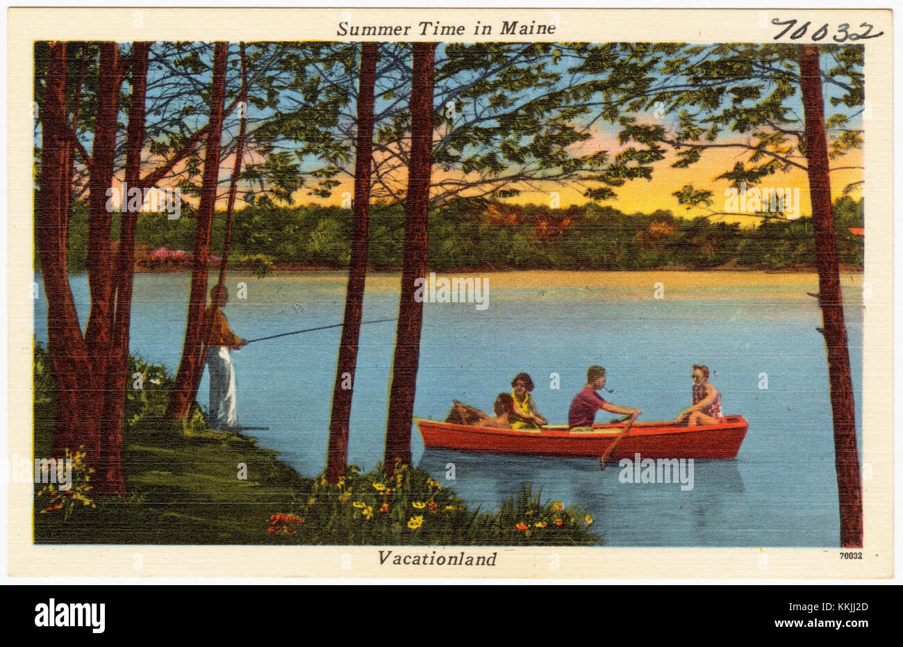 Summer time in Maine, Vacationland (70032) - Stock Image