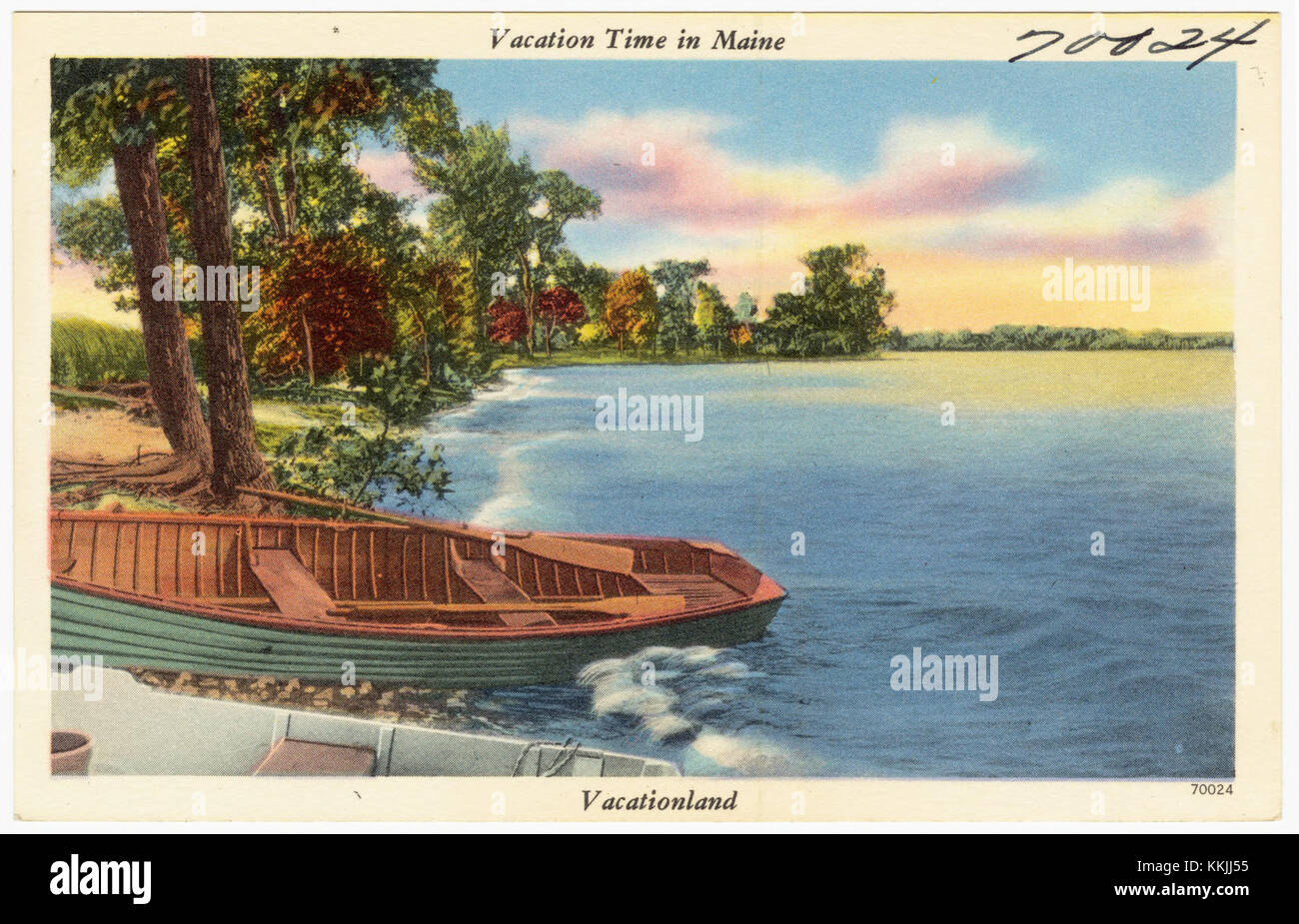 Vacation time in Maine, Vacationland (70024) - Stock Image
