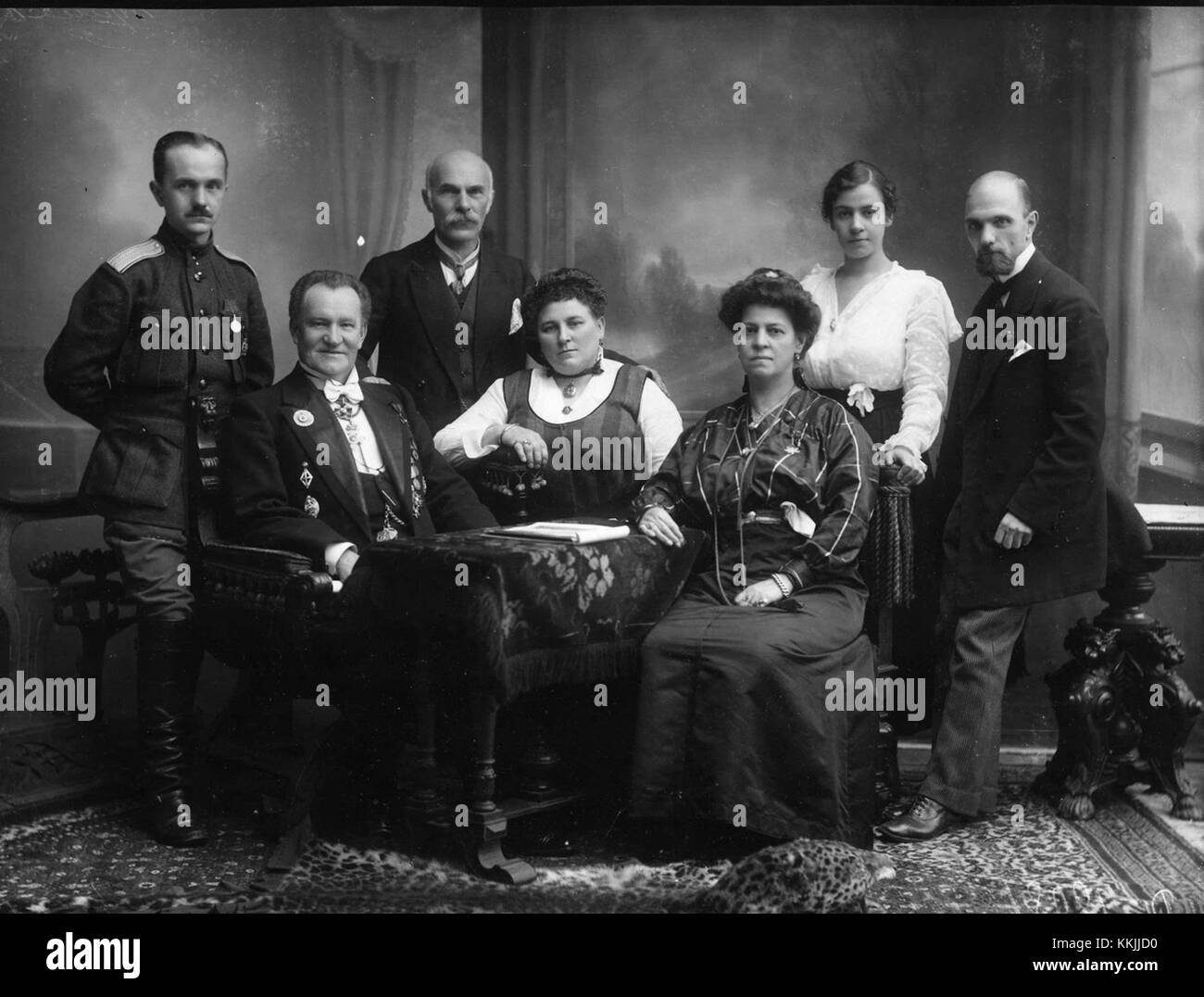 Karl Bulla with family - Stock Image