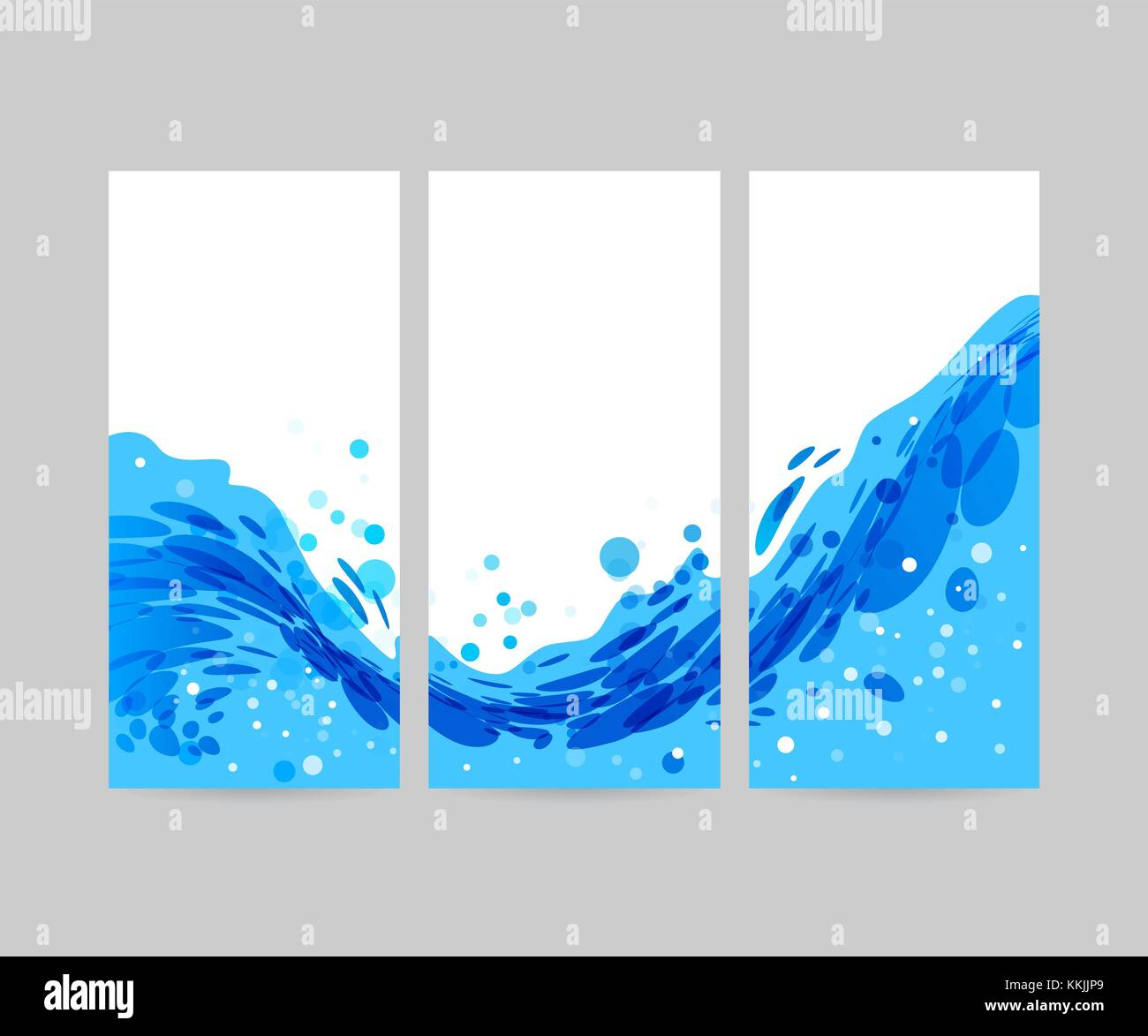 set wave abstract stylized background  brochure template