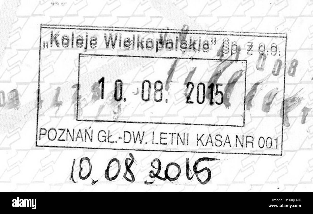 Koleje Wielkopolskie Dworzec Letni stempel - Stock Image