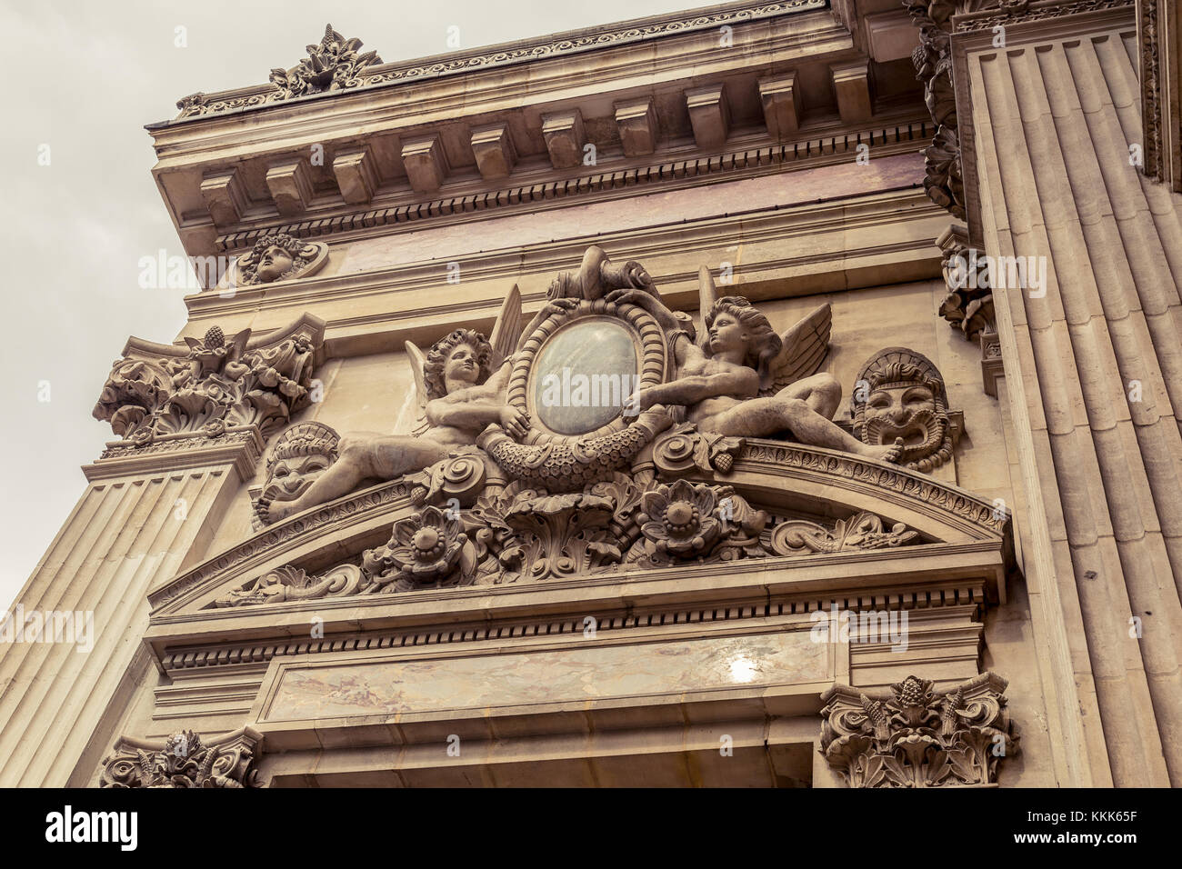 Paris, France, March 31 2017: Interior view of the Opera National de Paris Garnier, France. It was built from 1861 - Stock Image