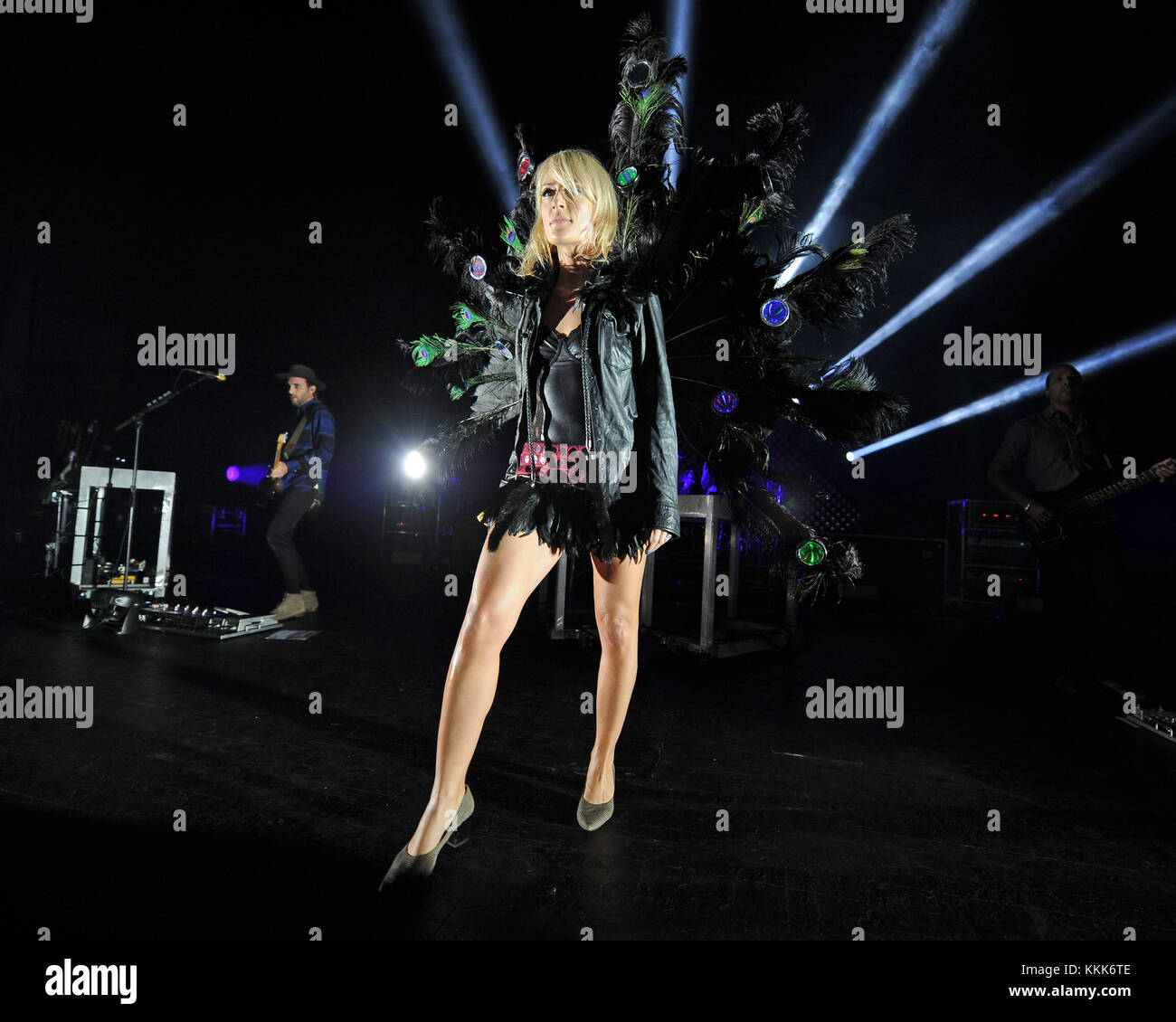MIAMI BEACH, FL - NOVEMBER 02: Emily Haines of Metric performs at The Fillmore on November 2, 2015 in Miami Beach, Stock Photo