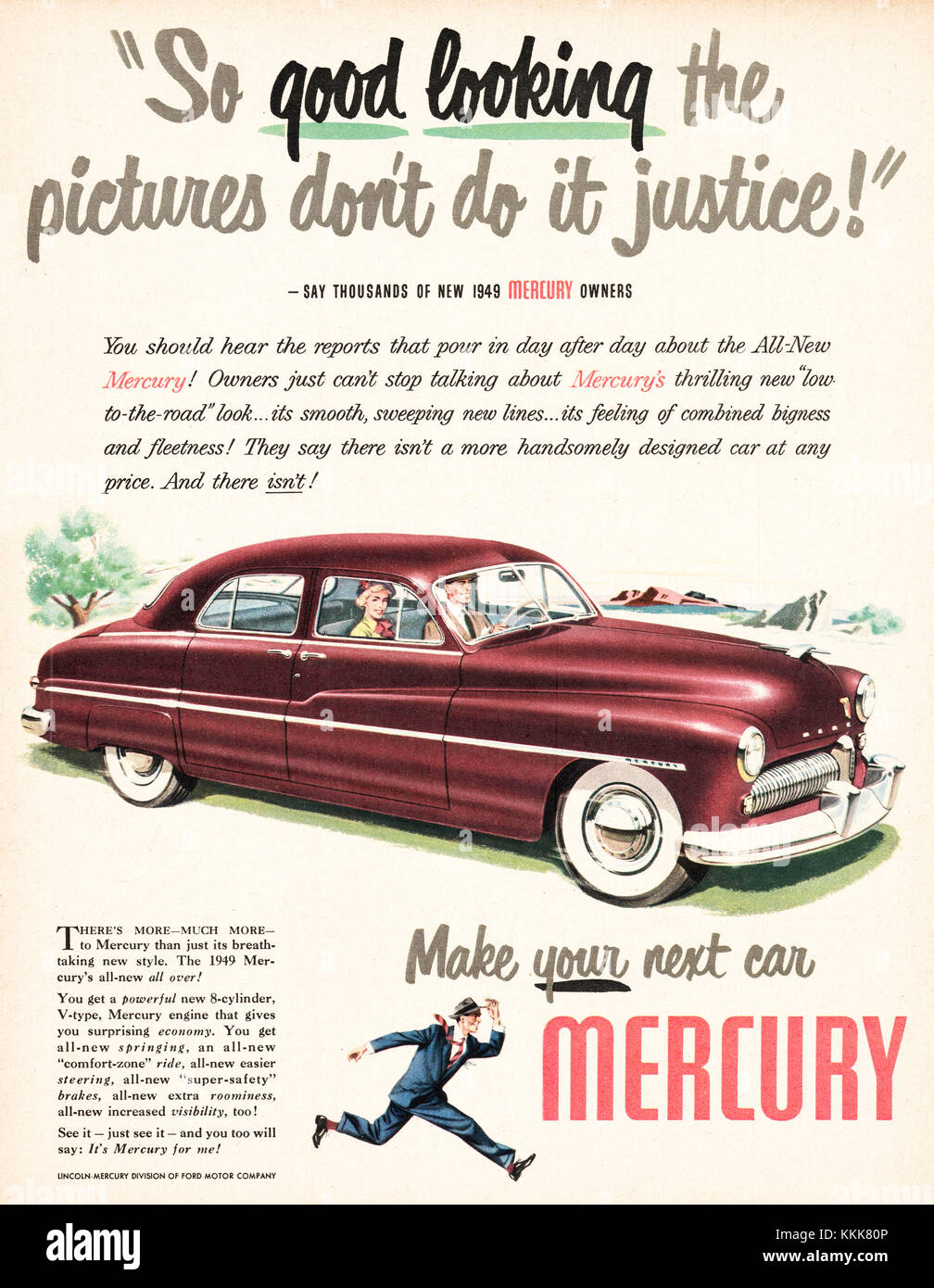 1948 U.S. Magazine Mercury Car Advert Stock Photo: 166995158 - Alamy
