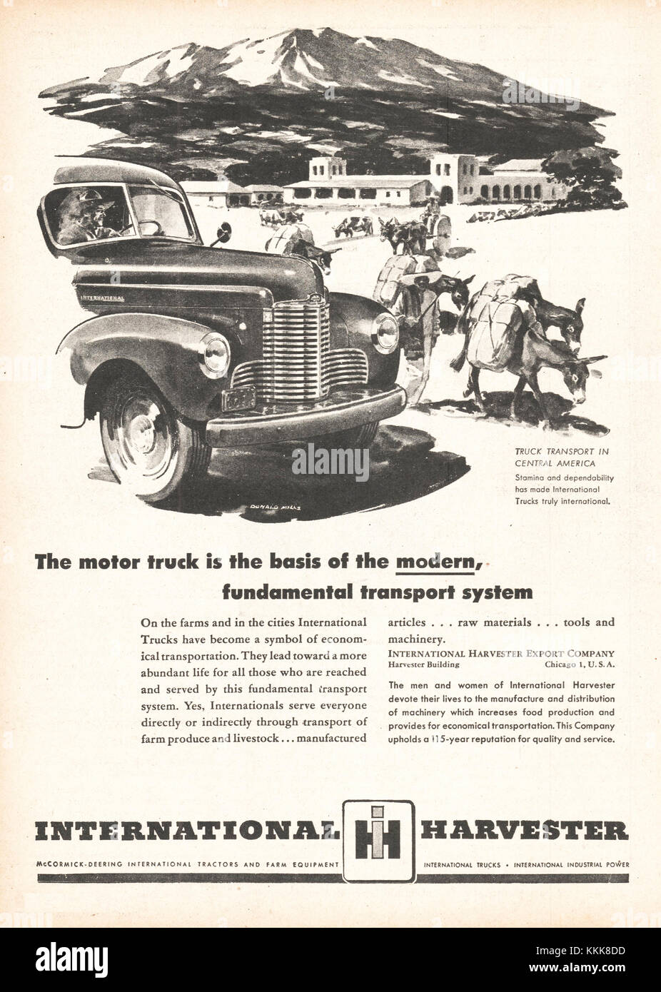 Harvester Company Stock Photos Images Alamy Electrical Wiring Diagram For 1941 1948 Studebaker All Trucks Us Magazine International Advert Image