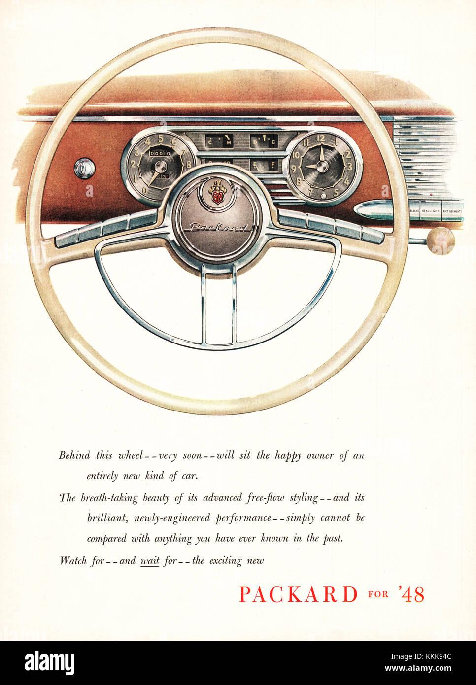 1947 U.S. Magazine Dodge Cars Advert - Stock Image