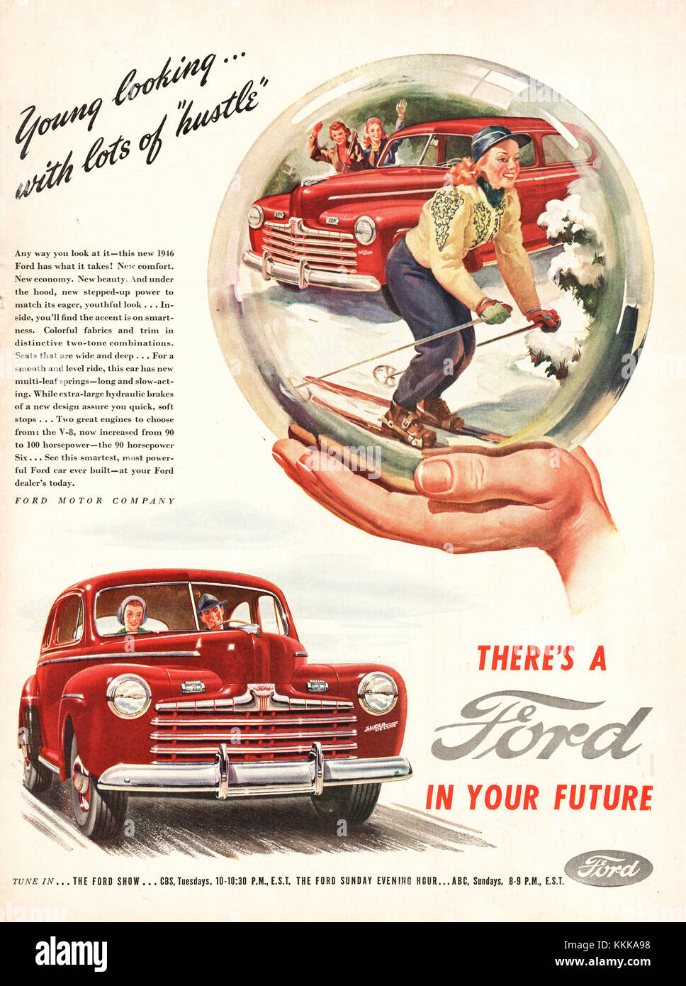 1946 U.S. Magazine Ford Cars Advert Stock Photo: 166996964 - Alamy