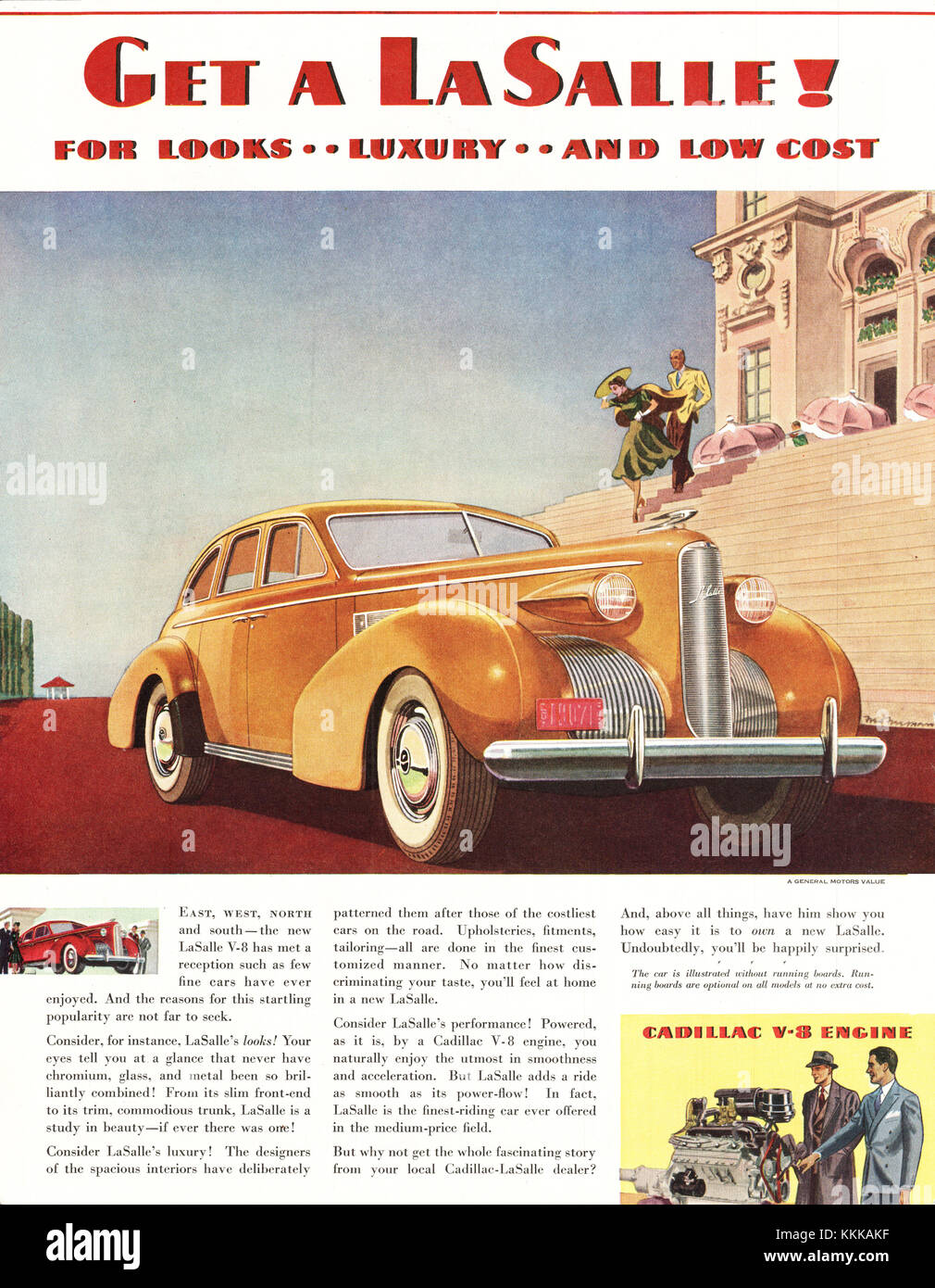 1938 U.S. Magazine LaSalle Car Advert Stock Photo: 166997251 - Alamy