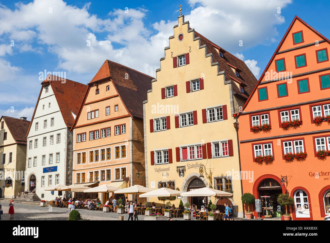 restaurants cafes rothenburg ob der stock photos restaurants cafes rothenburg ob der stock. Black Bedroom Furniture Sets. Home Design Ideas