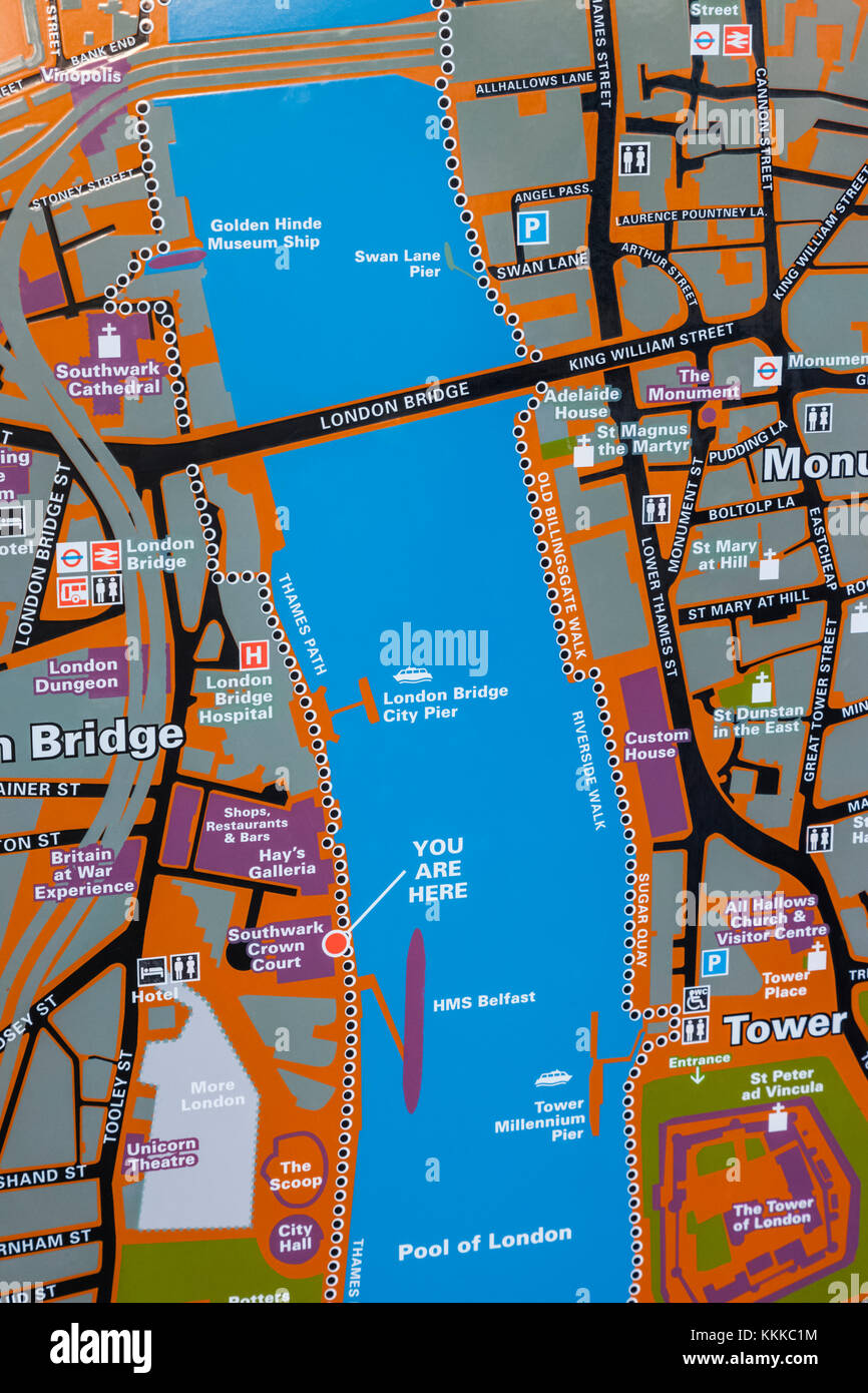London City Centre Map.England London City Of London Street Map Of The Tower Of London