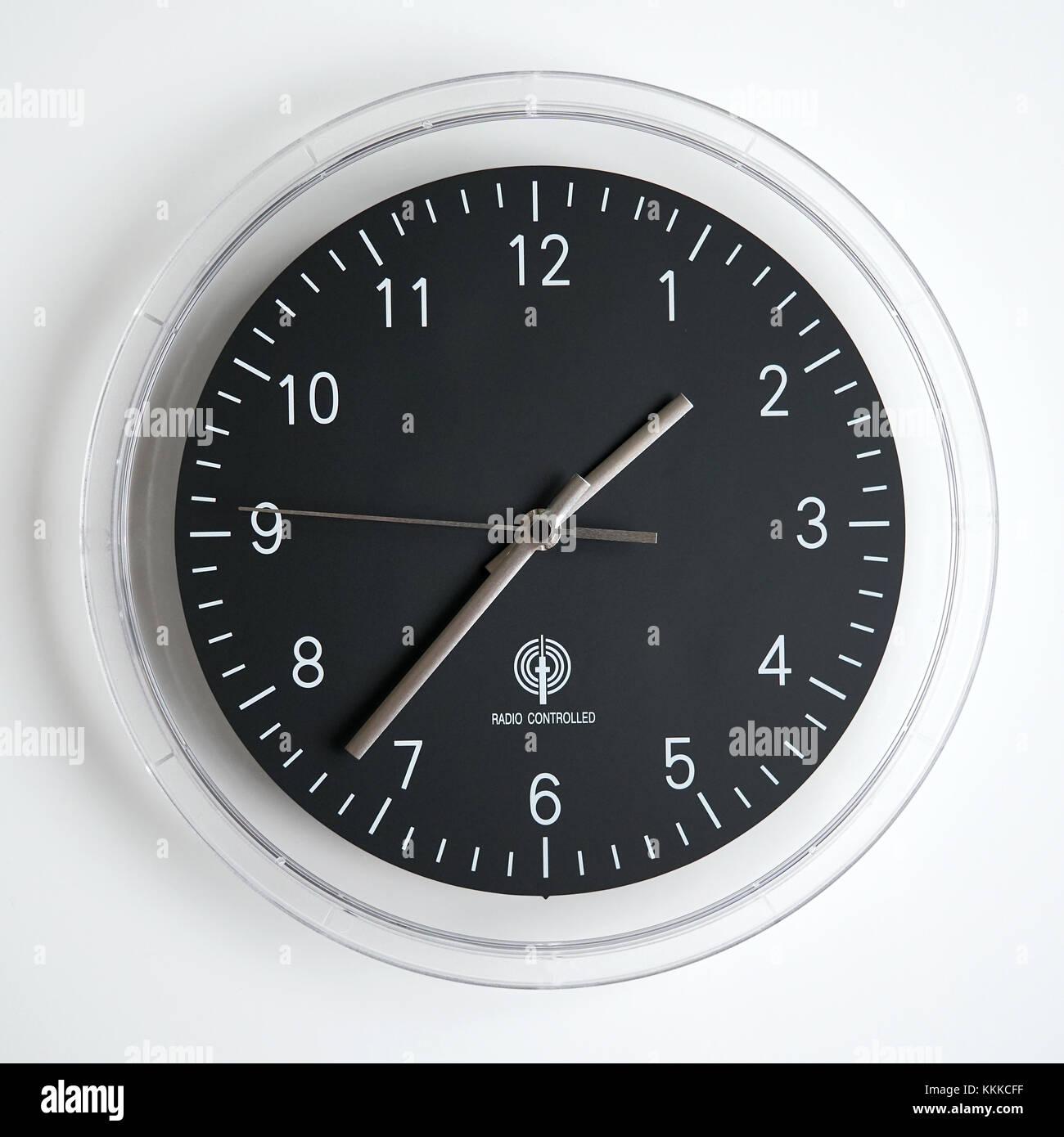 radio controlled wall clock - Stock Image