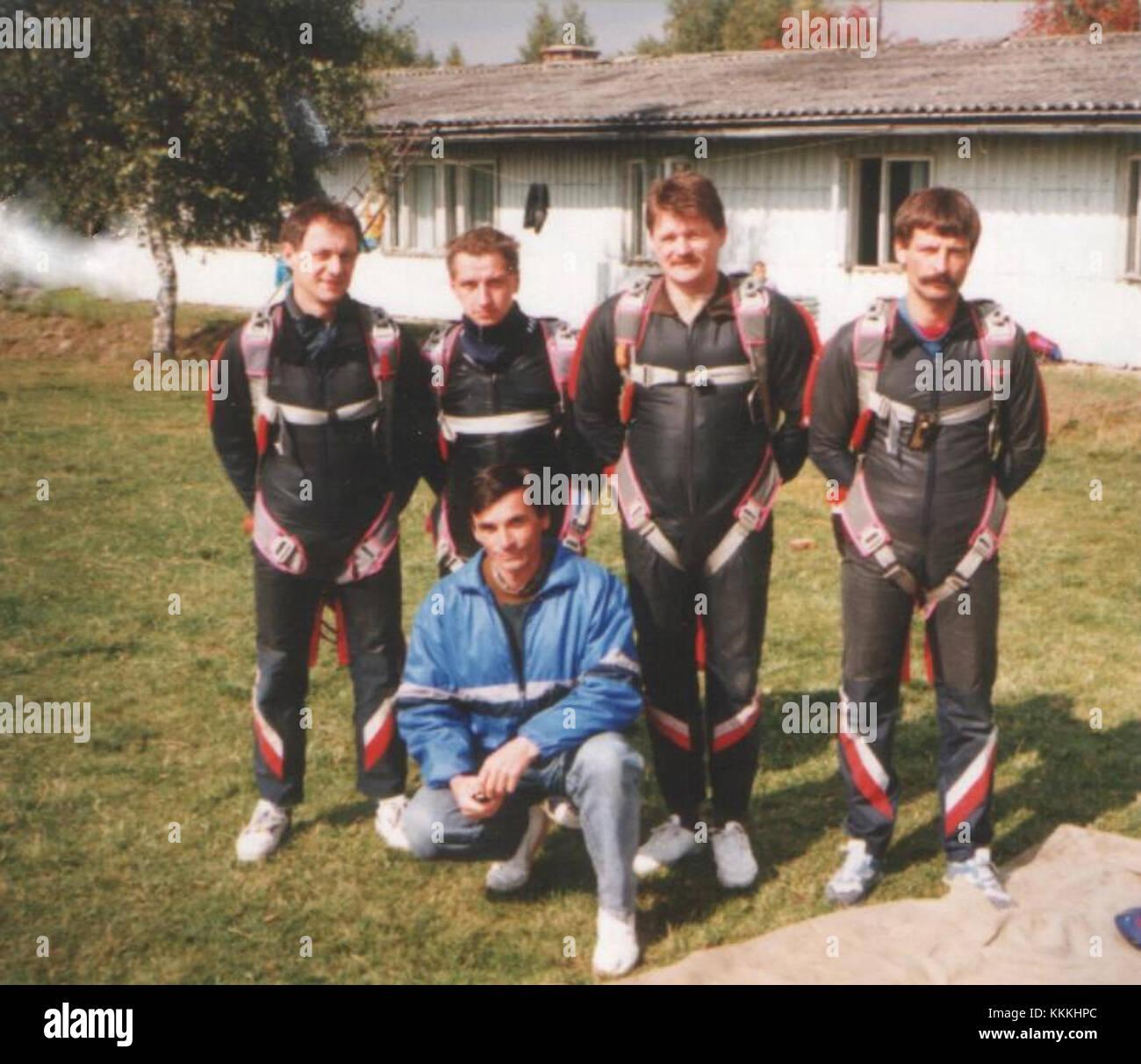 Spadochronowe Mistrzostwa Polski w RW-4 Nowy Targ 1993 03 - Stock Image