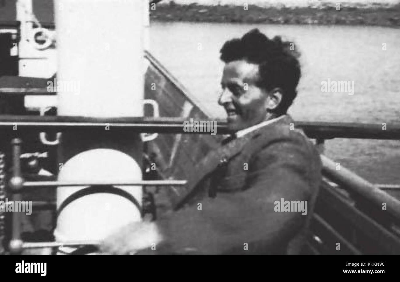 43. Ludwig Wittgenstein on holiday - Stock Image