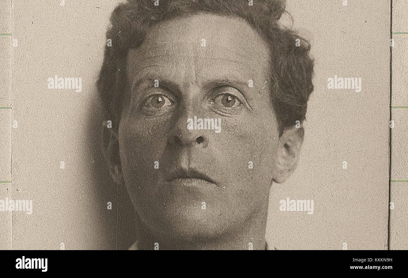 Ludwig-Wittgenstein-portrait - Stock Image