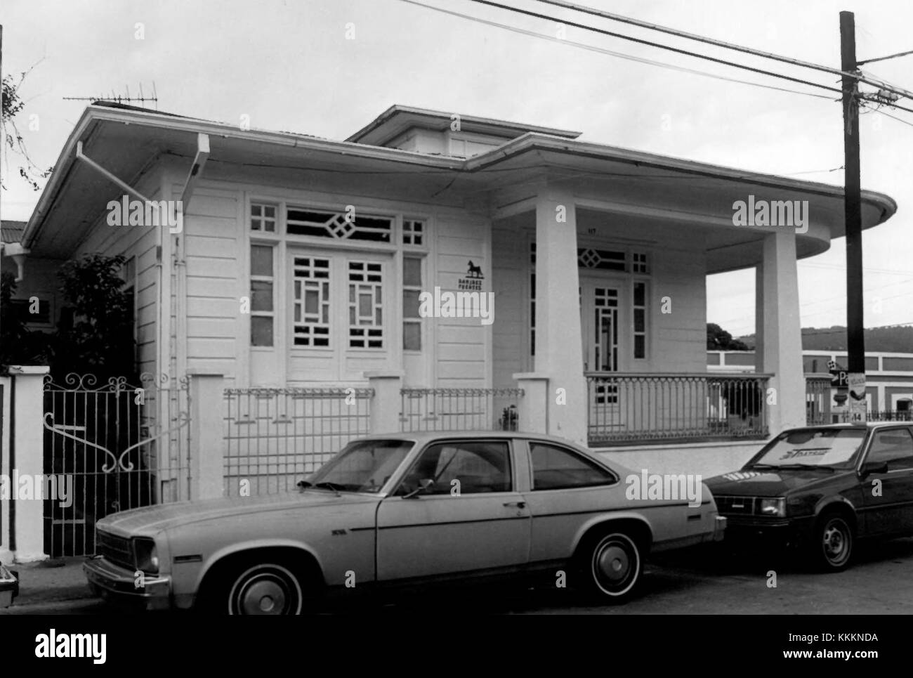 Residencia Ramirez Fuentes 3 - Mayaguez Puerto Rico - Stock Image