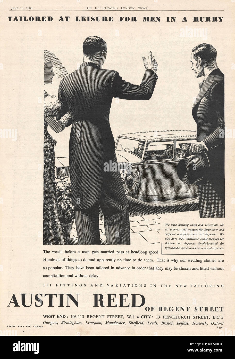 1935 Uk Magazine Austin Reed Advert Stock Photo Alamy