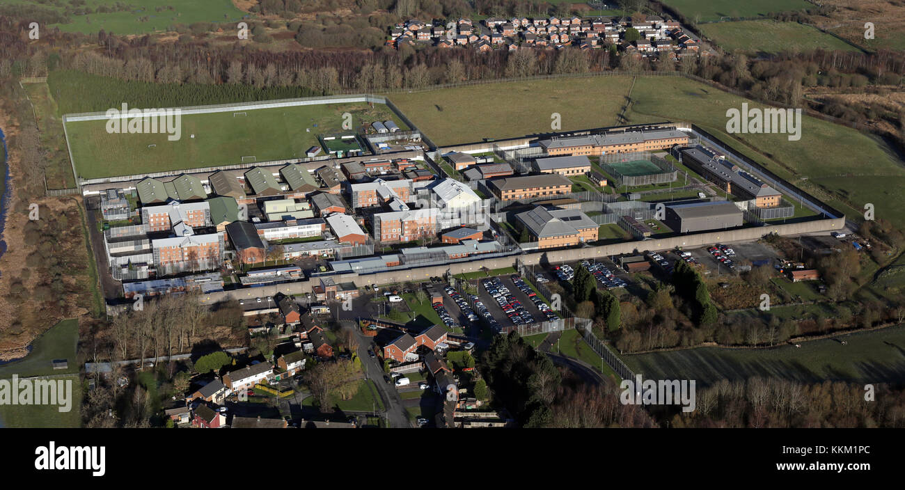aerial view of HMP Hindley prison - Stock Image