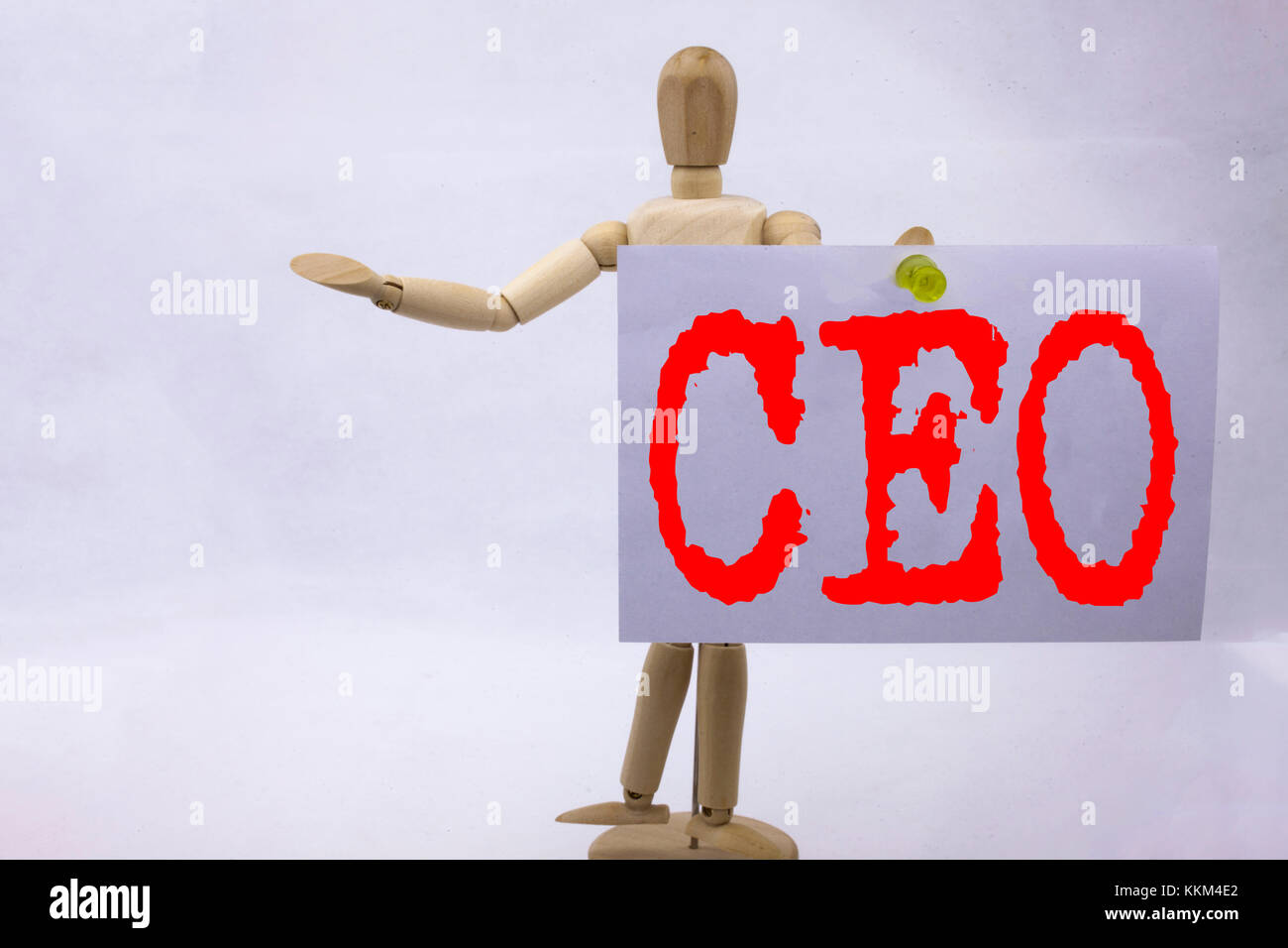 Conceptual hand writing text caption inspiration showing CEO Business concept for Operating Leader Business Executive - Stock Image