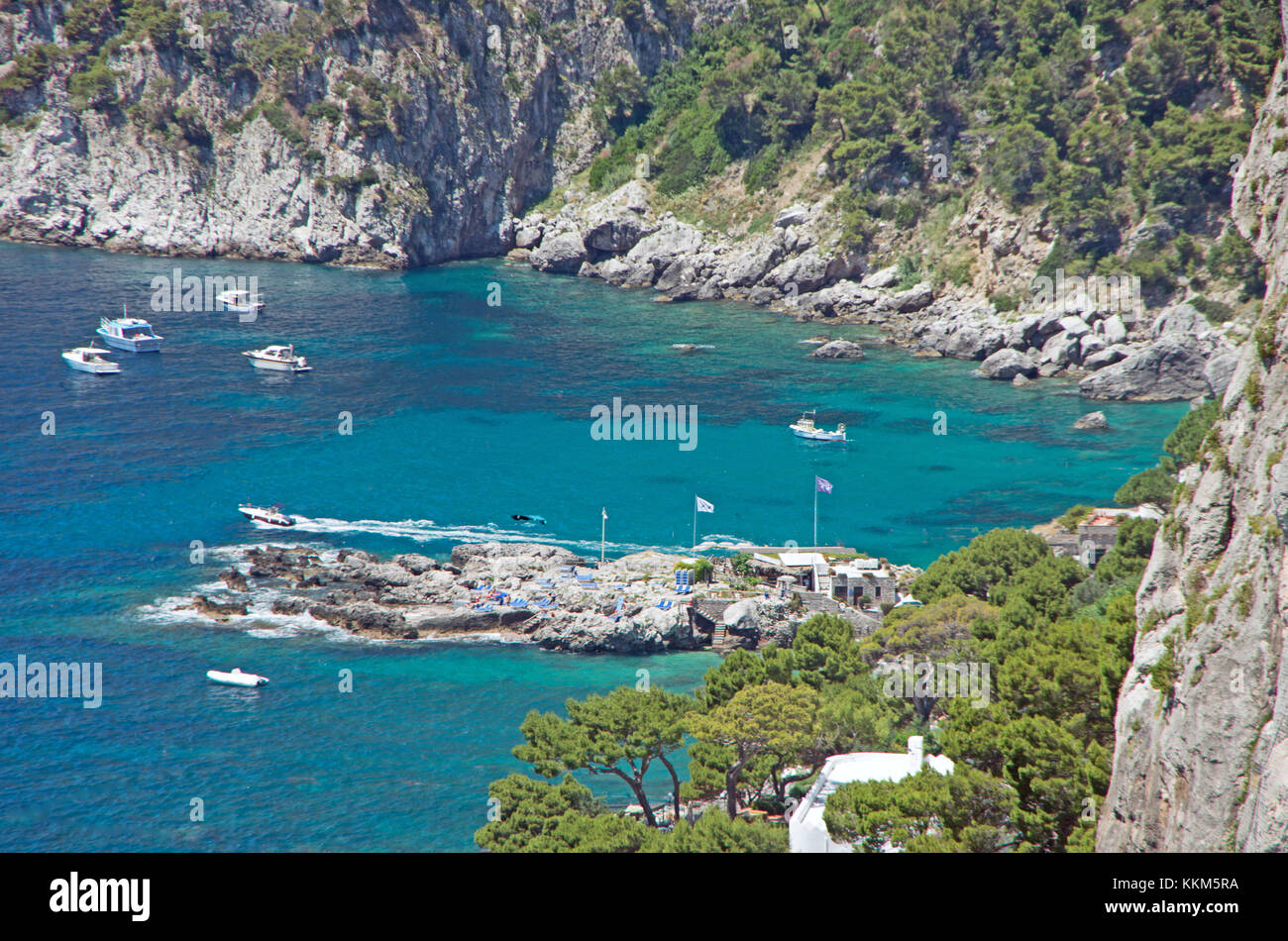 Capri, Italy, Mediterranean, Europe, Garden of Augustus, Sea View from - Stock Image