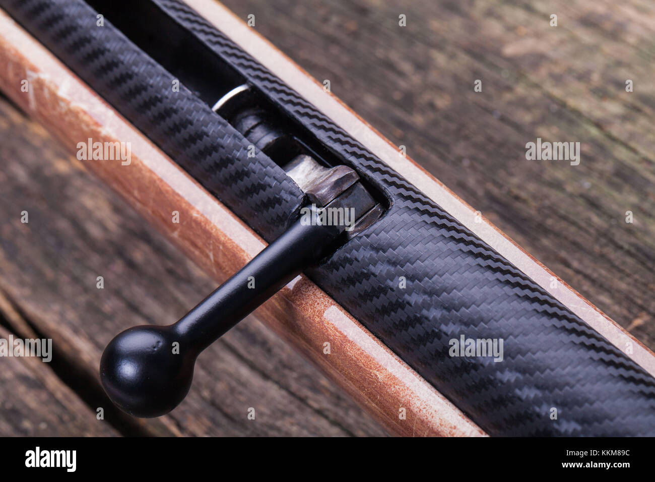 Airgun, clamping lever - Stock Image