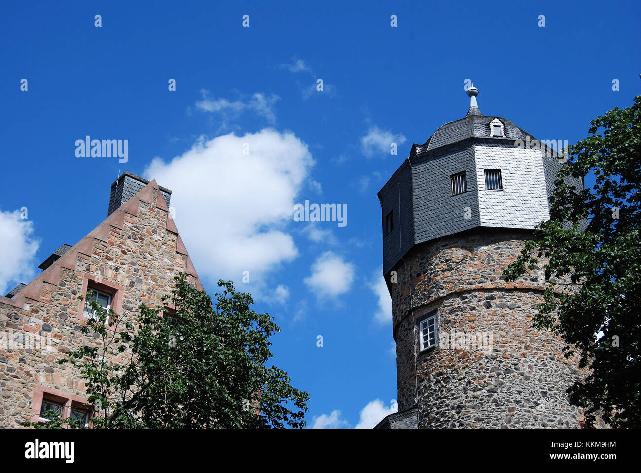 The old castle in Giessen was established under landgrave Heinrich II first as a water castle to the gain of the - Stock Image
