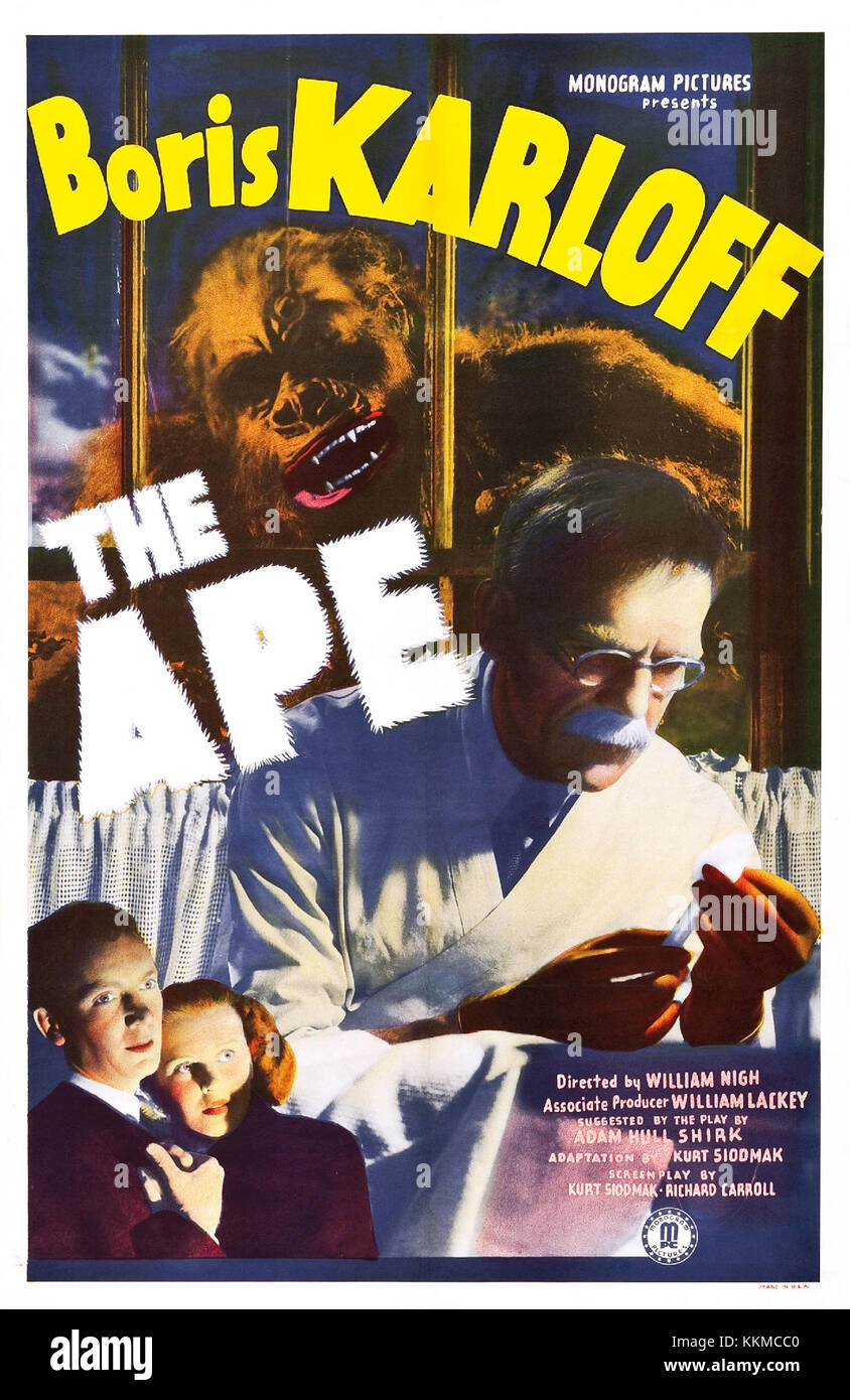 The Ape (1940) poster - Stock Image