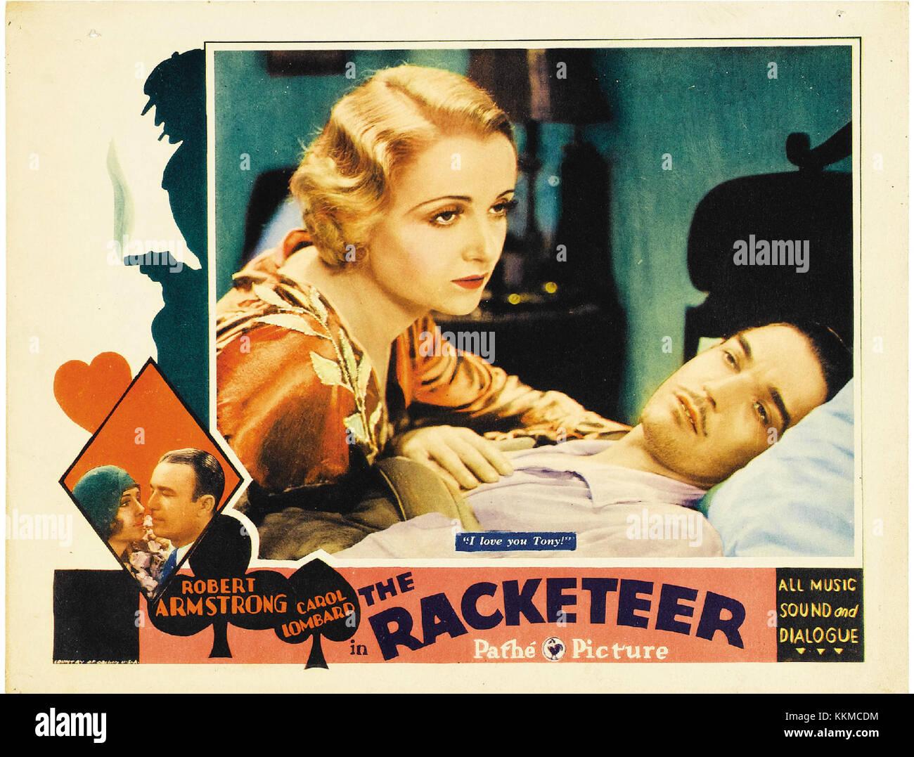 Racketeer lobby card - Stock Image