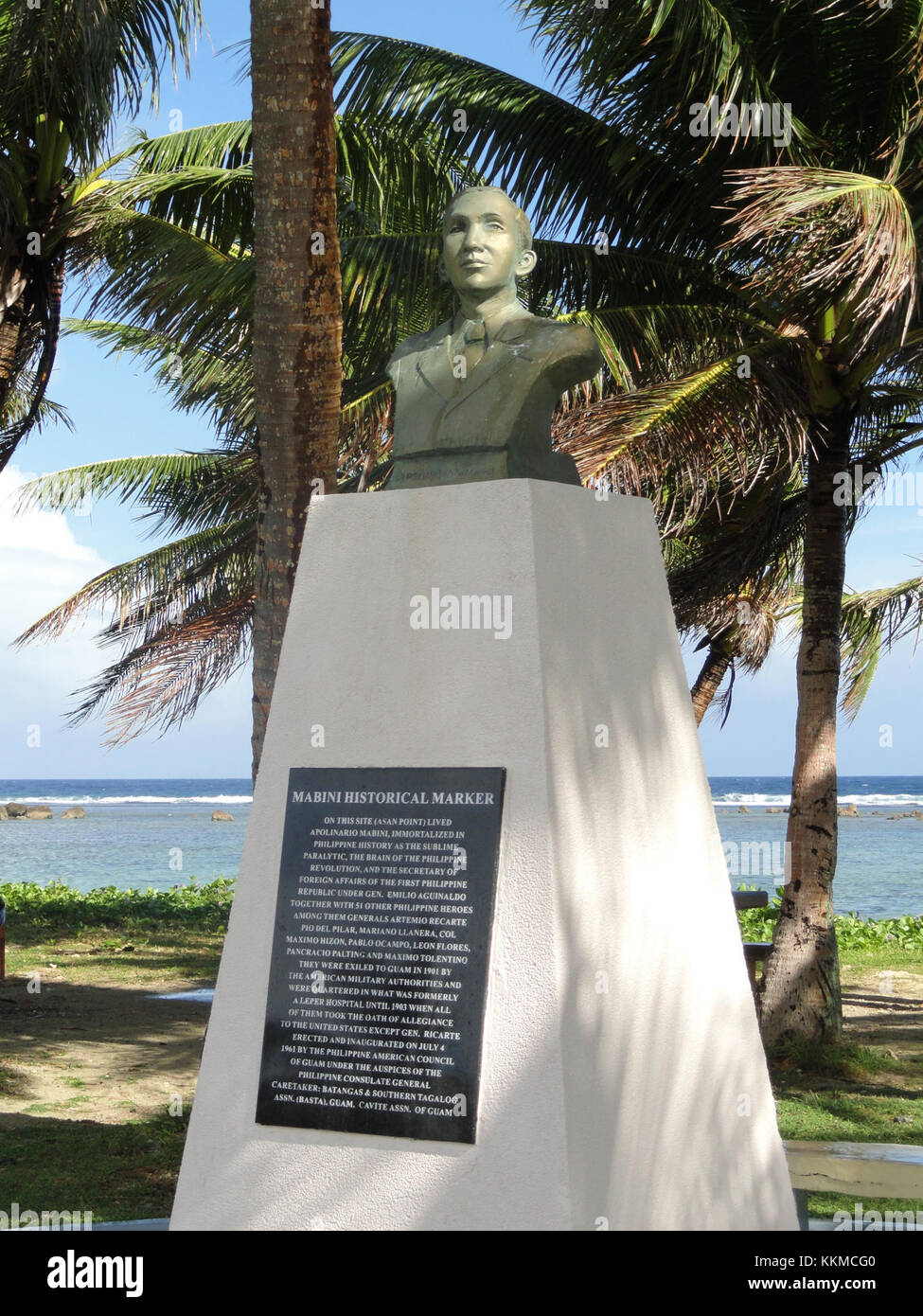 Apolinario Mabini historical marker - War in the Pacific National Historical Park (Asan Beach Unit) - DSC00849Stock Photo