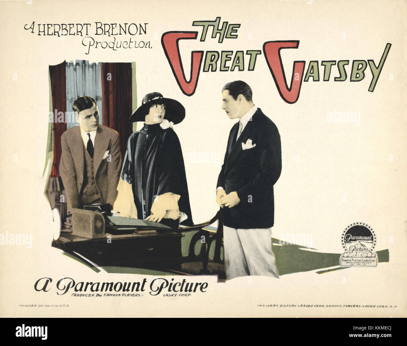 Great Gatsby lobby card Stock Photo