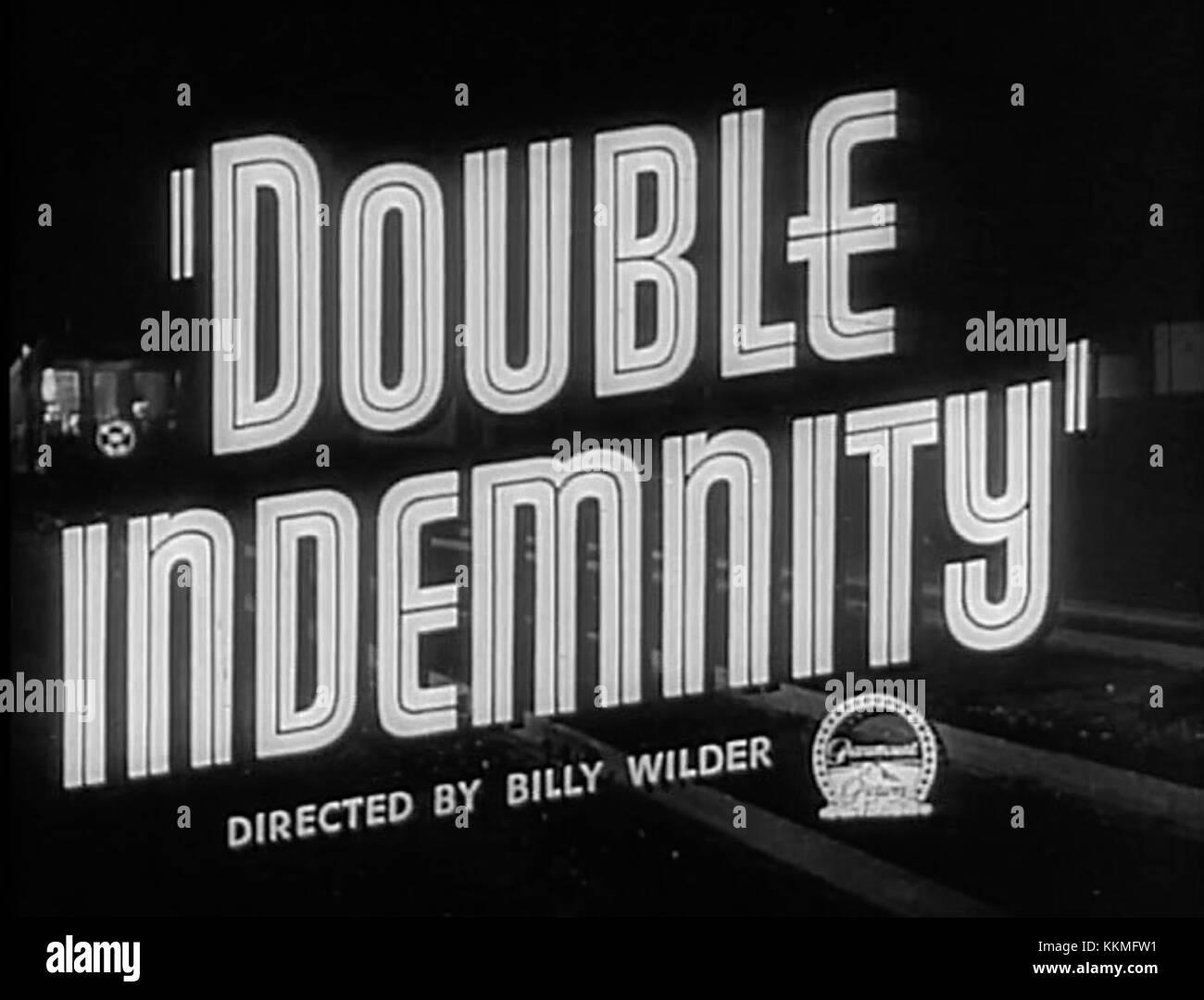 Double indemnity screenshot 10 - Stock Image